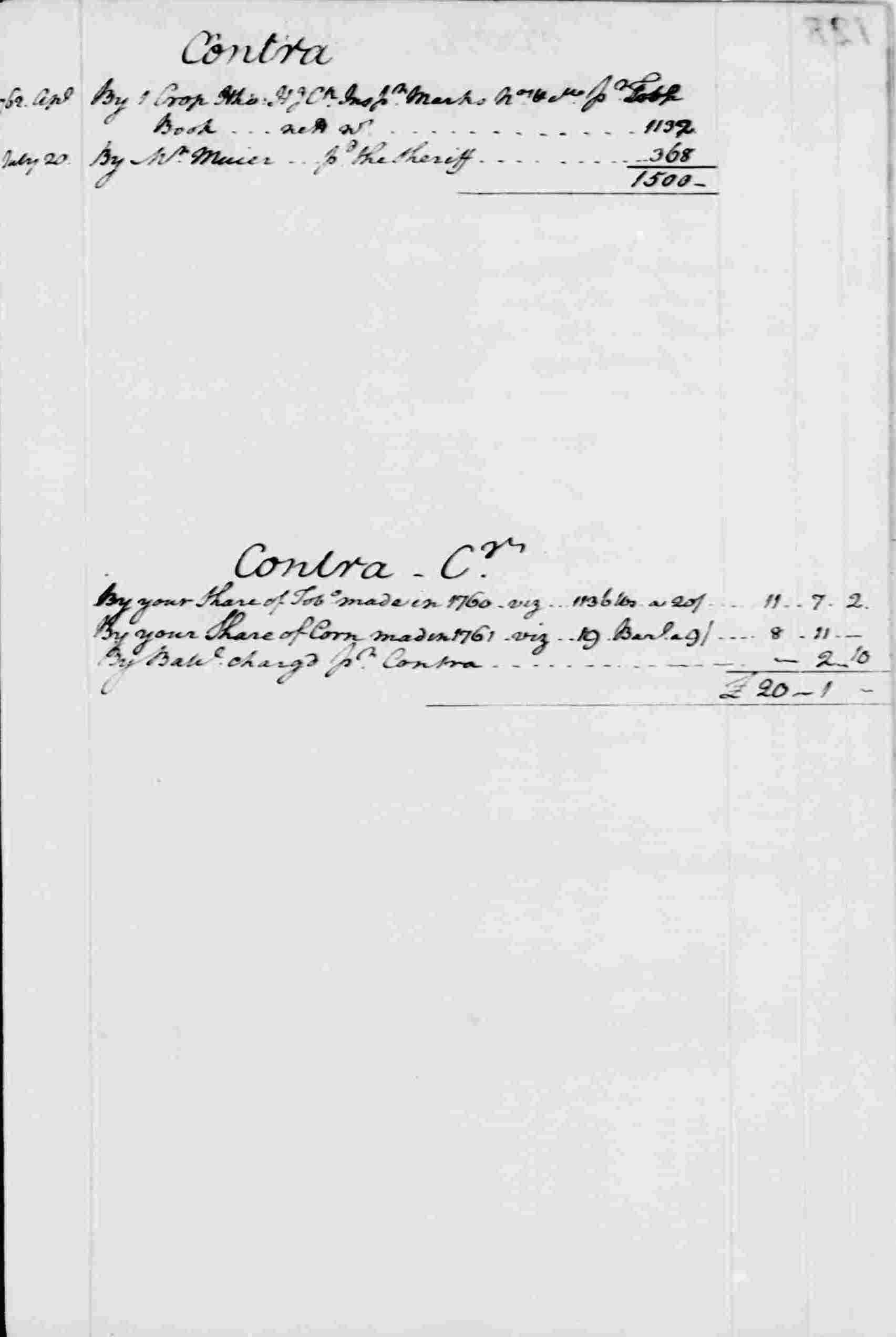 Ledger A, folio 127, right side