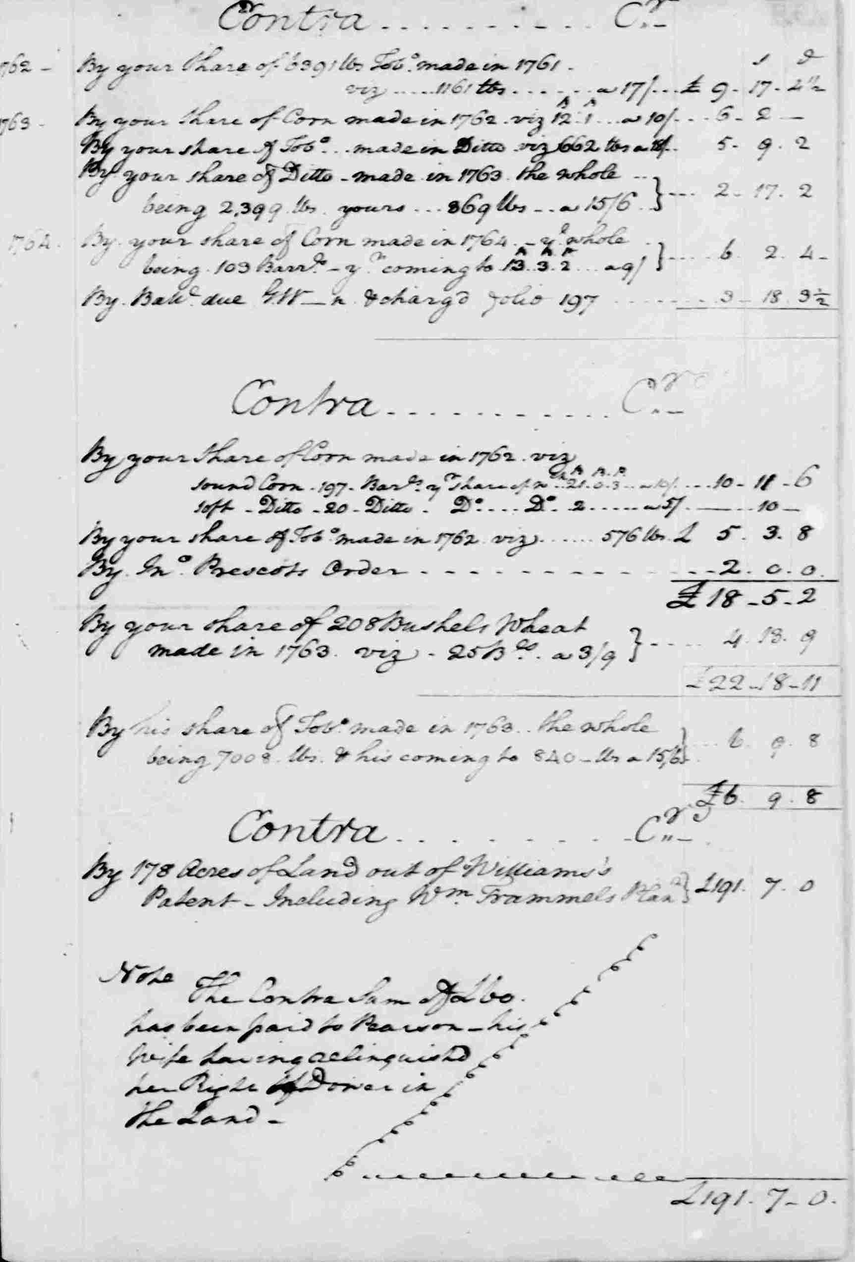 Ledger A, folio 132, right side
