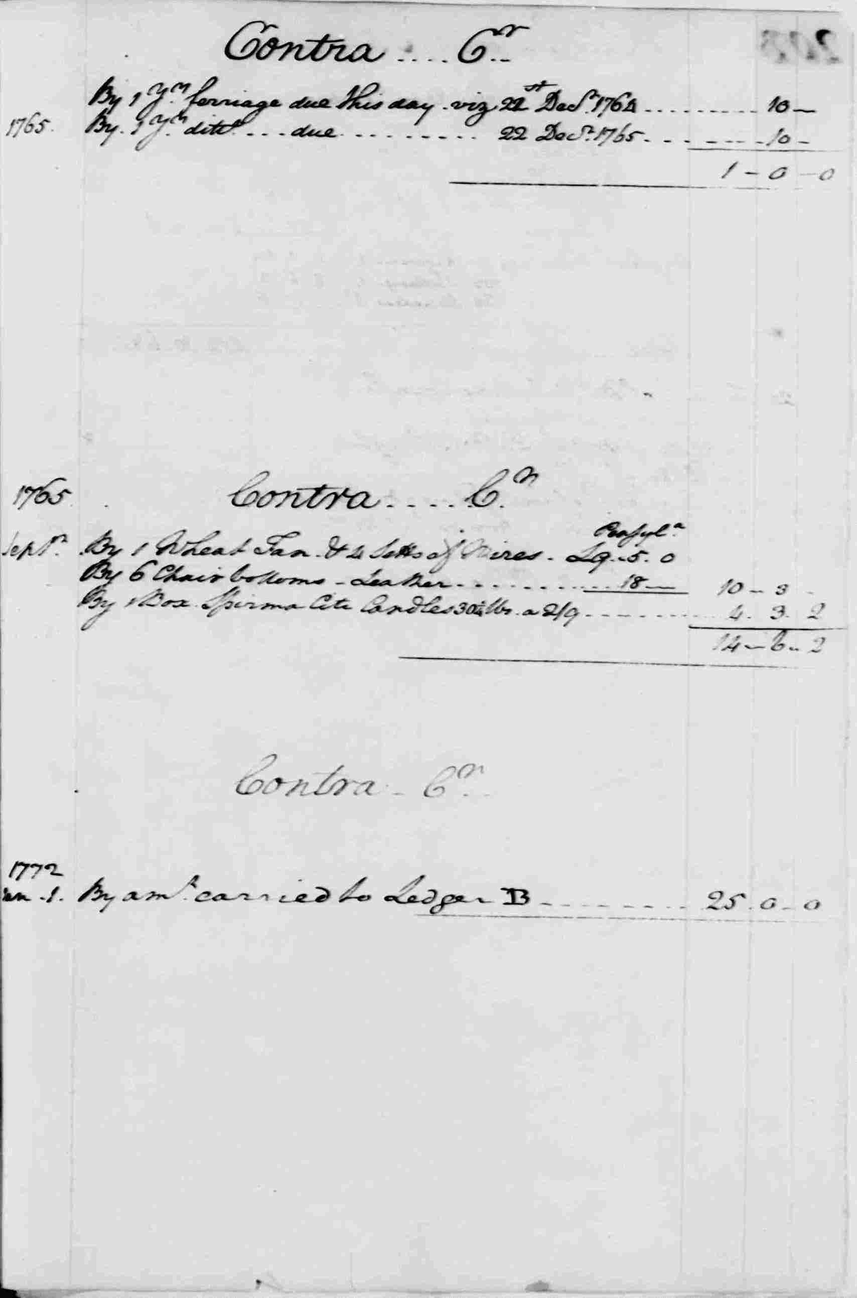 Ledger A, folio 202, right side