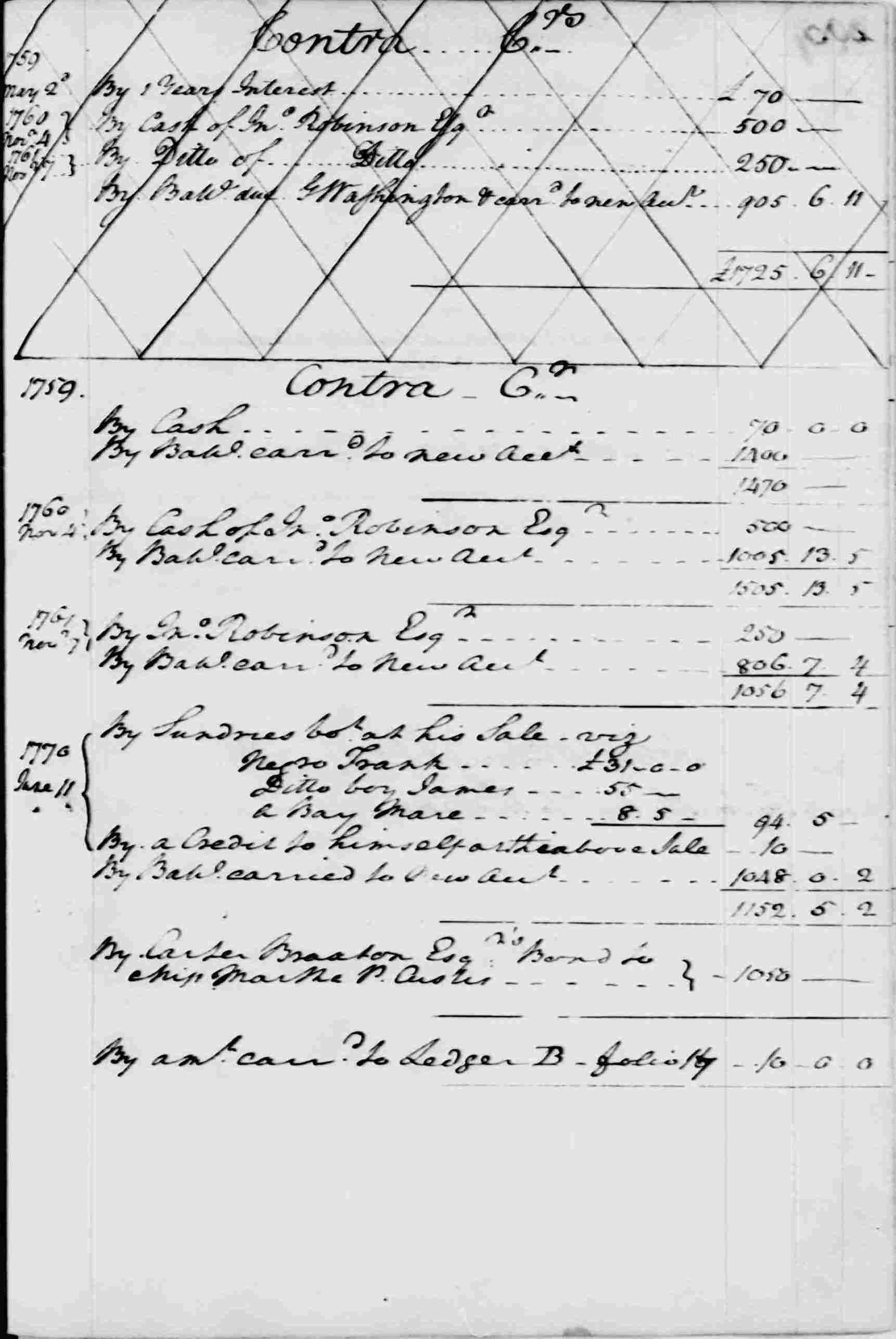 Ledger A, folio 204, right side