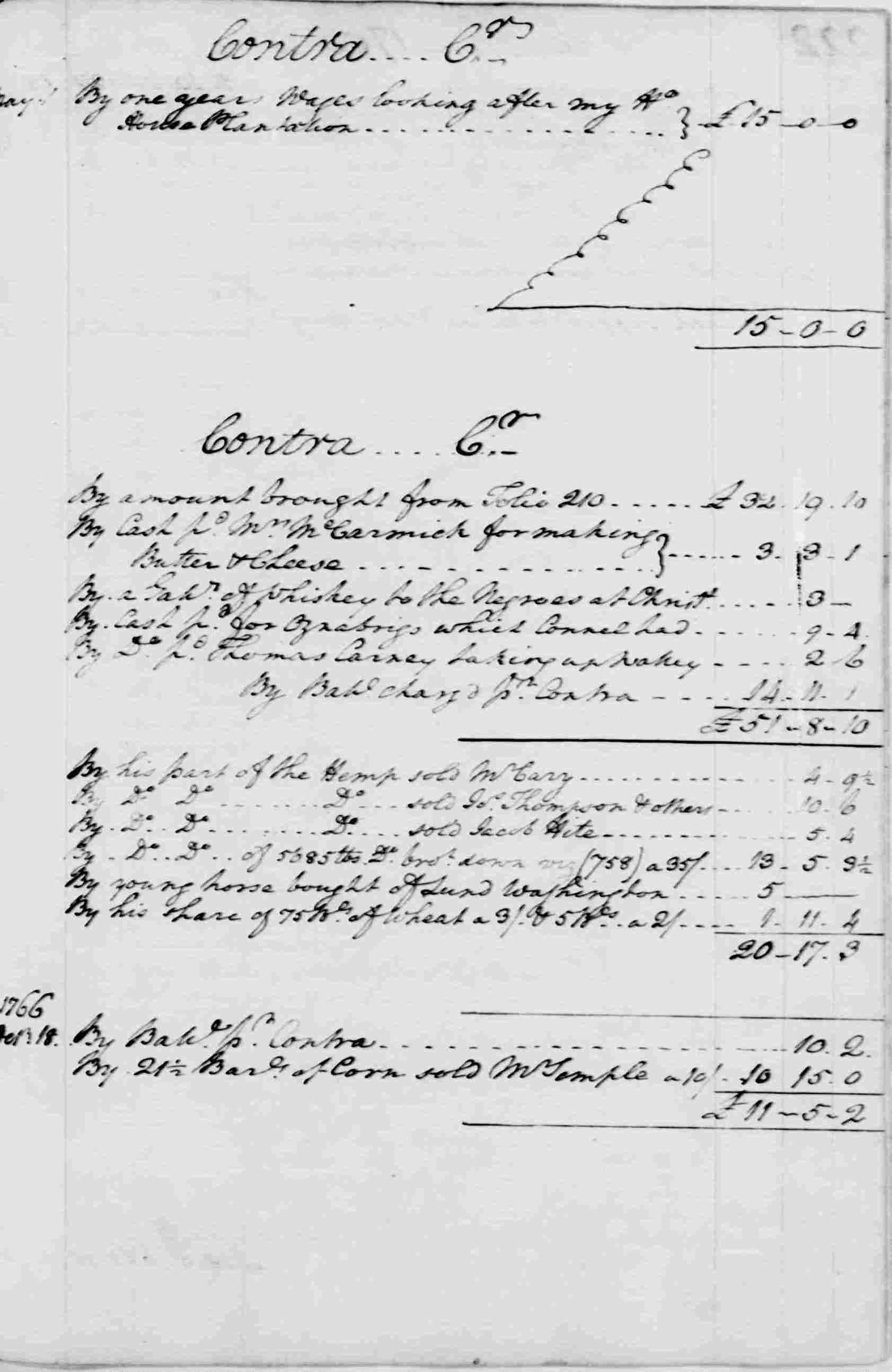 Ledger A, folio 221, right side