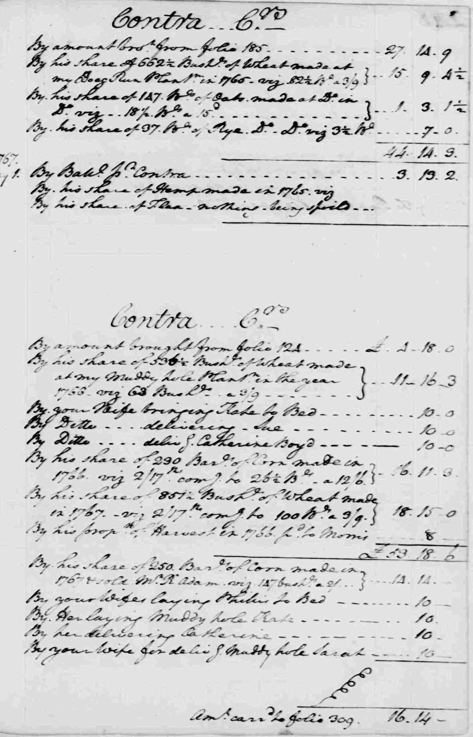 Ledger A, folio 247, right side
