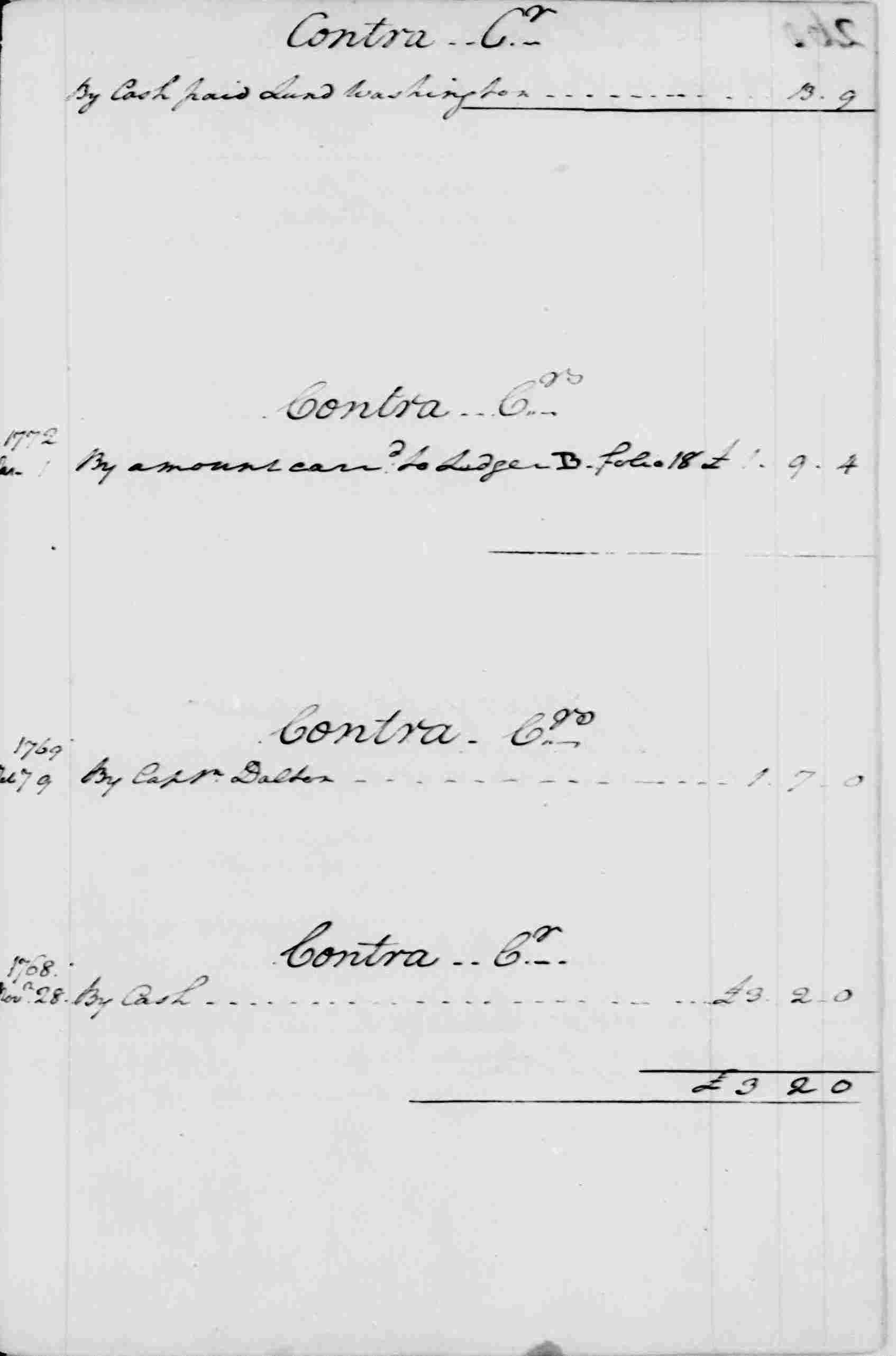 Ledger A, folio 260, right side