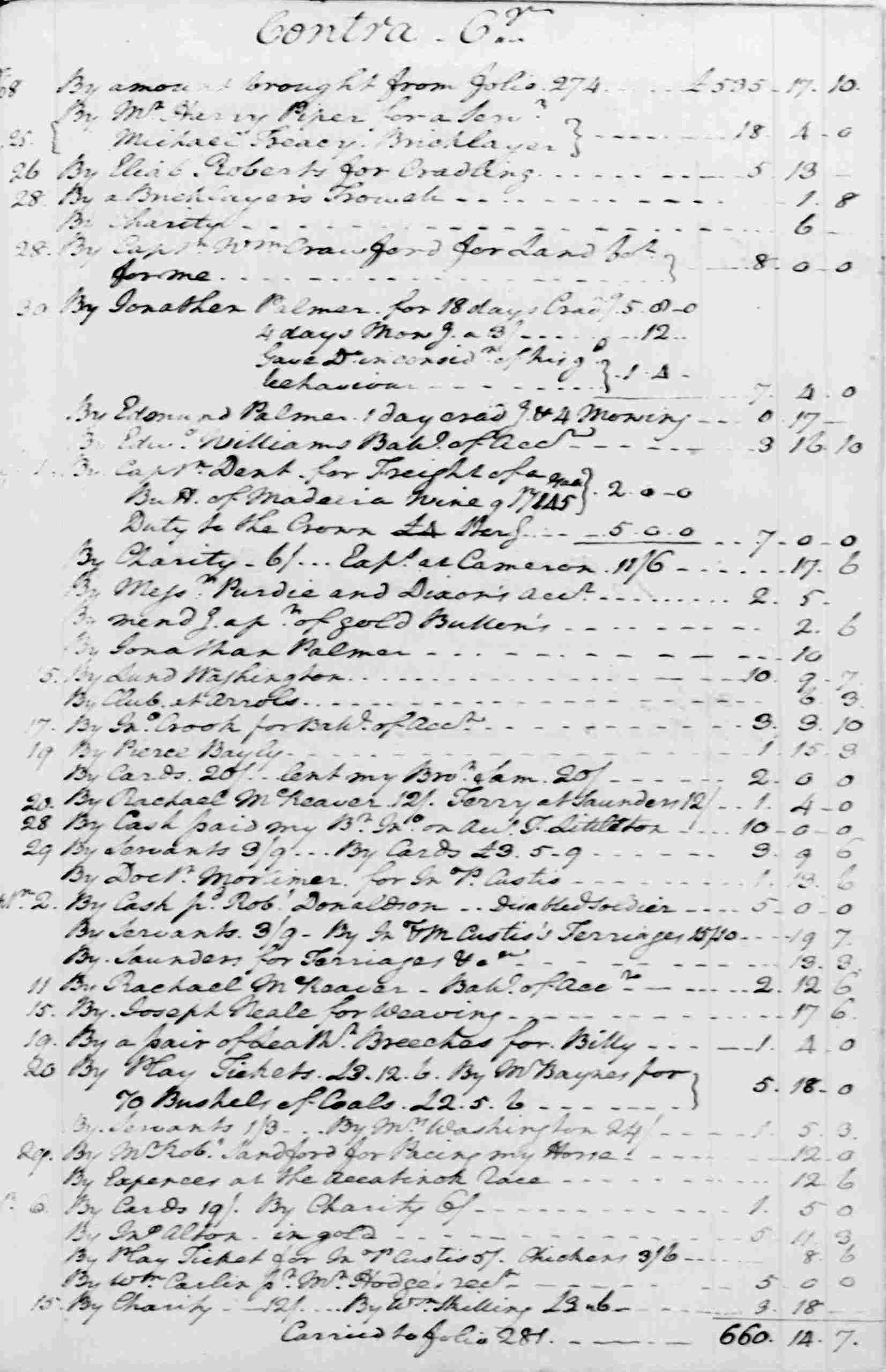 Ledger A, folio 277, right side
