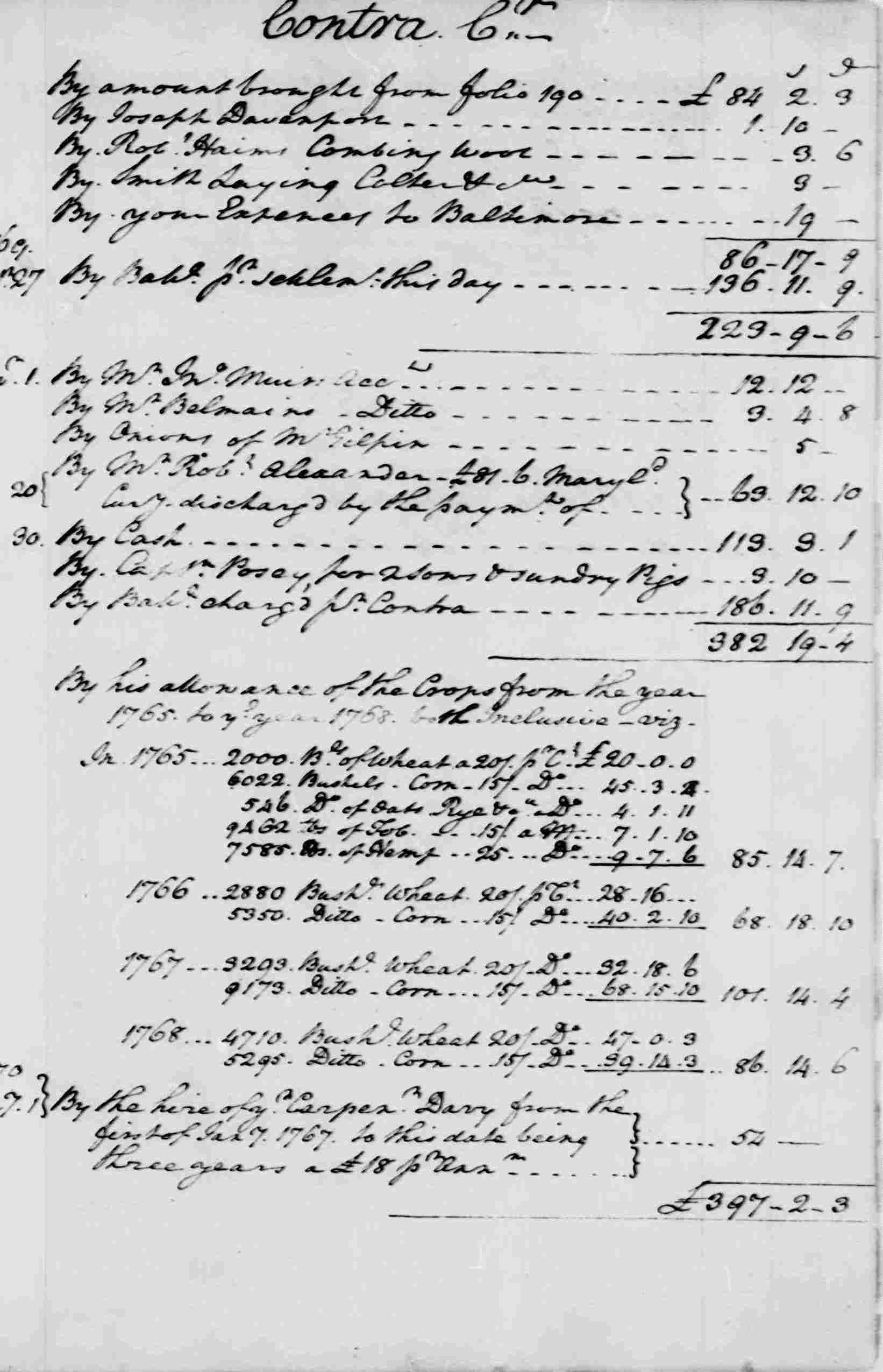 Ledger A, folio 297, right side