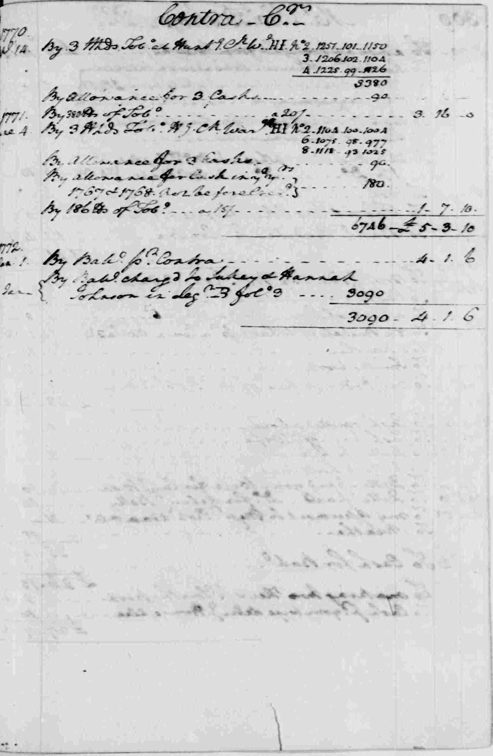 Ledger A, folio 308, right side