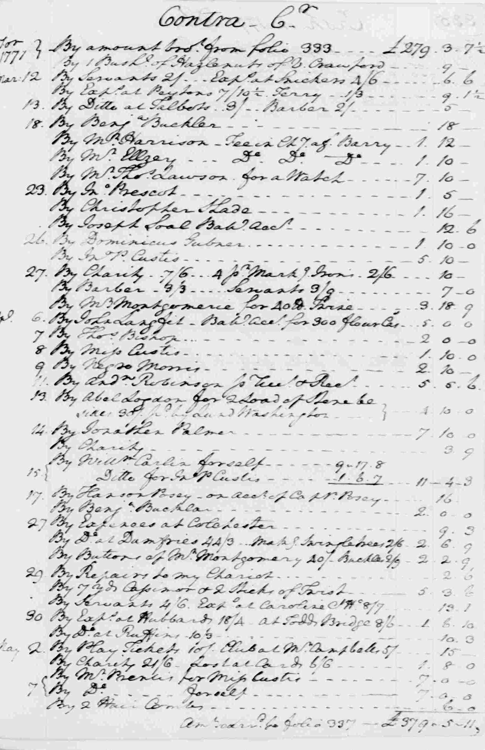 Ledger A, folio 335, right side