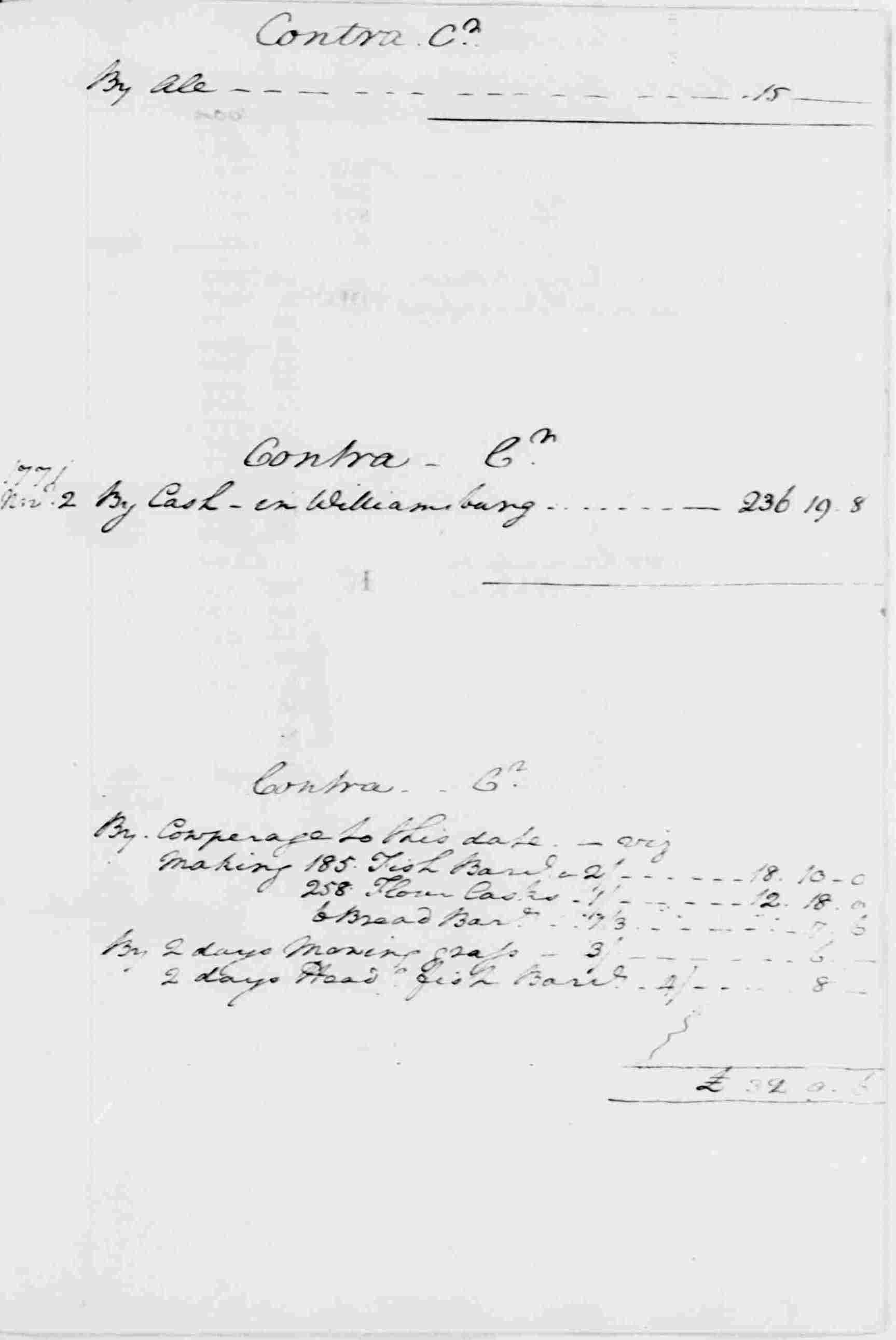 Ledger A, folio 338, right side