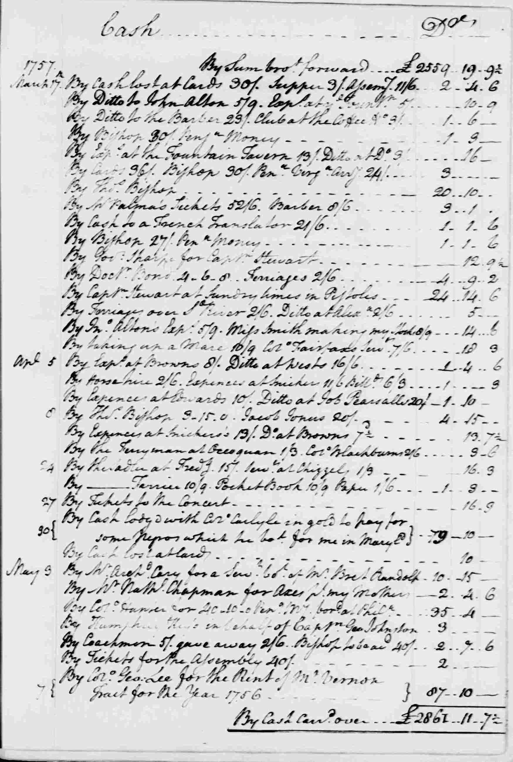 Ledger A, folio 34, right side