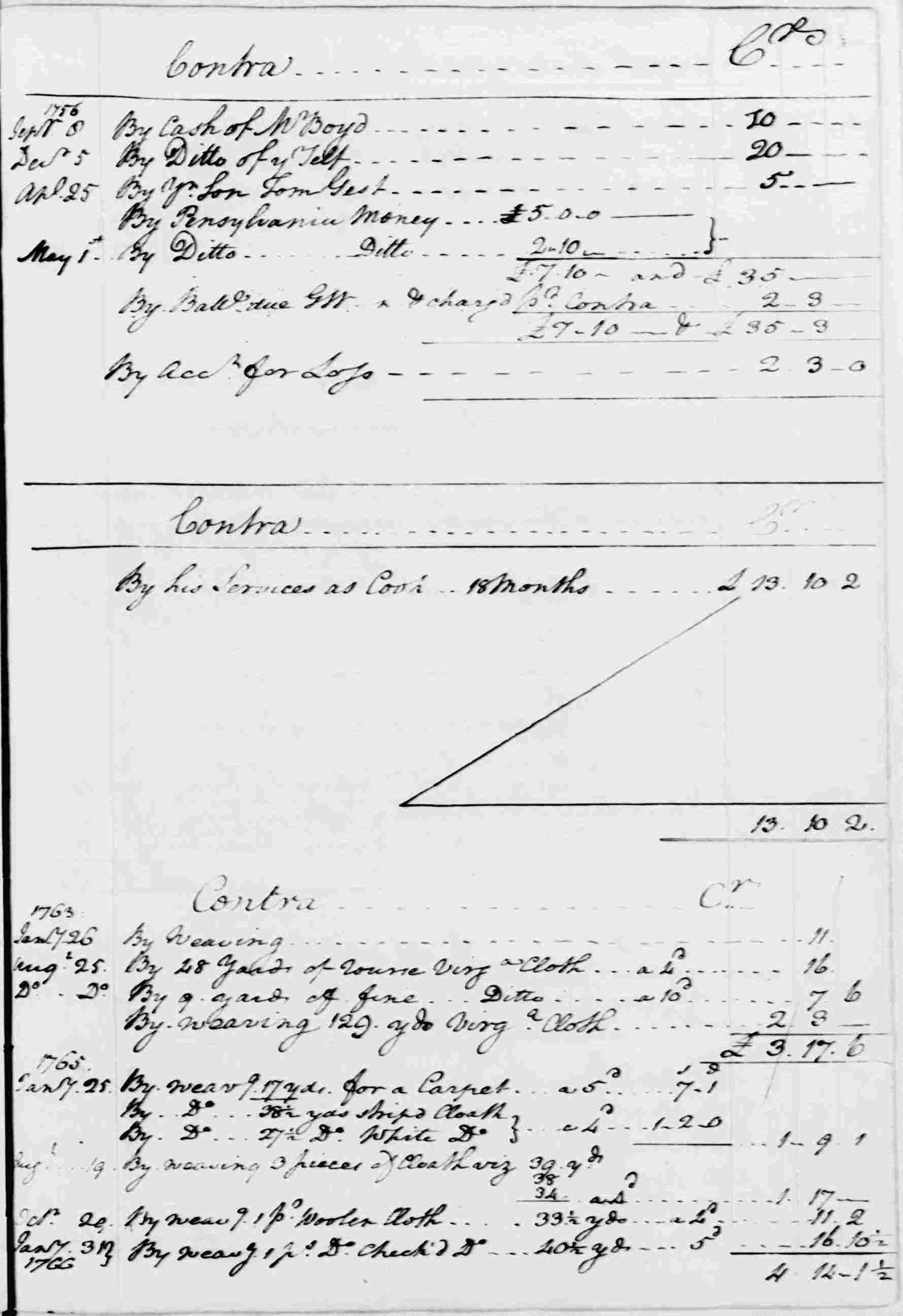 Ledger A, folio 42, right side