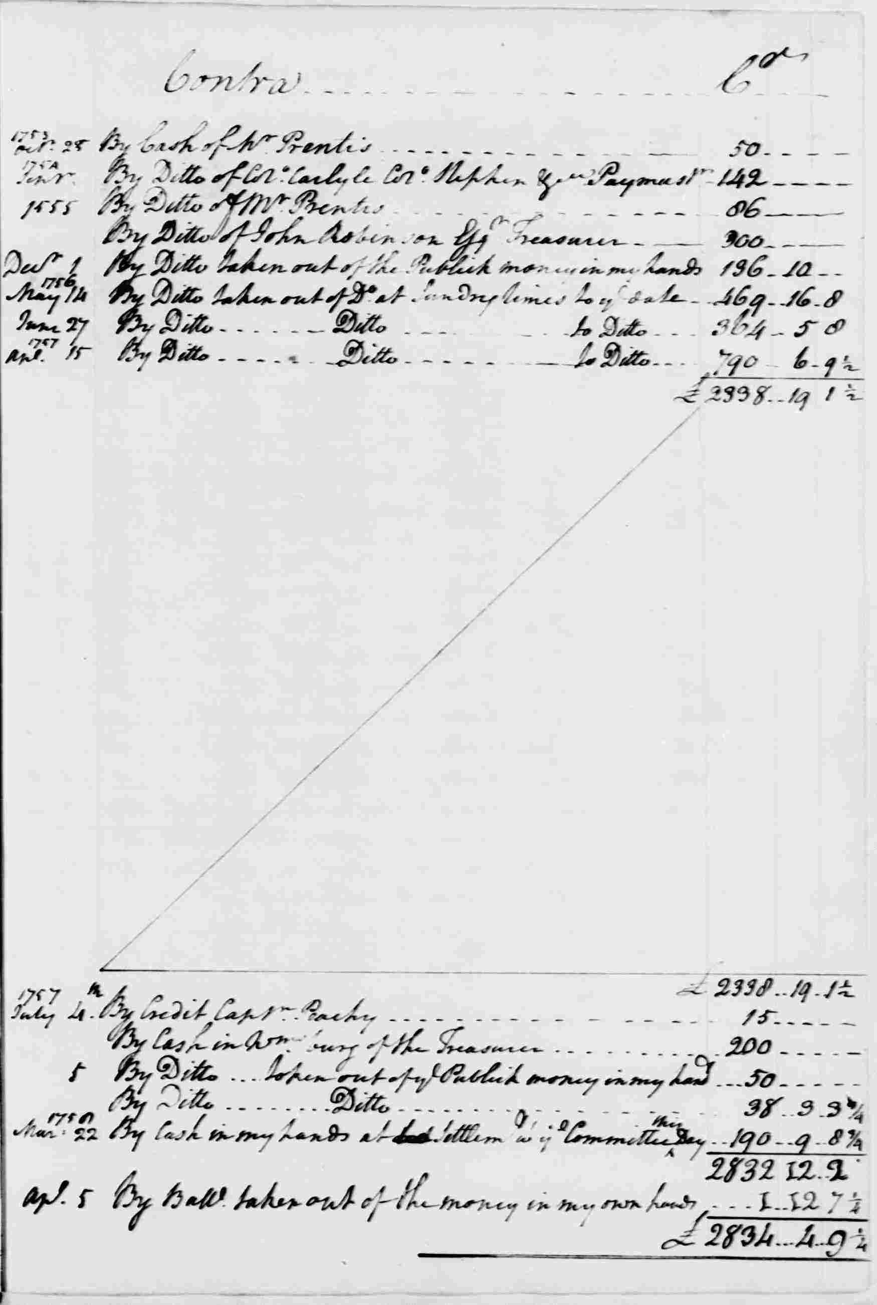 Ledger A, folio 45, right side