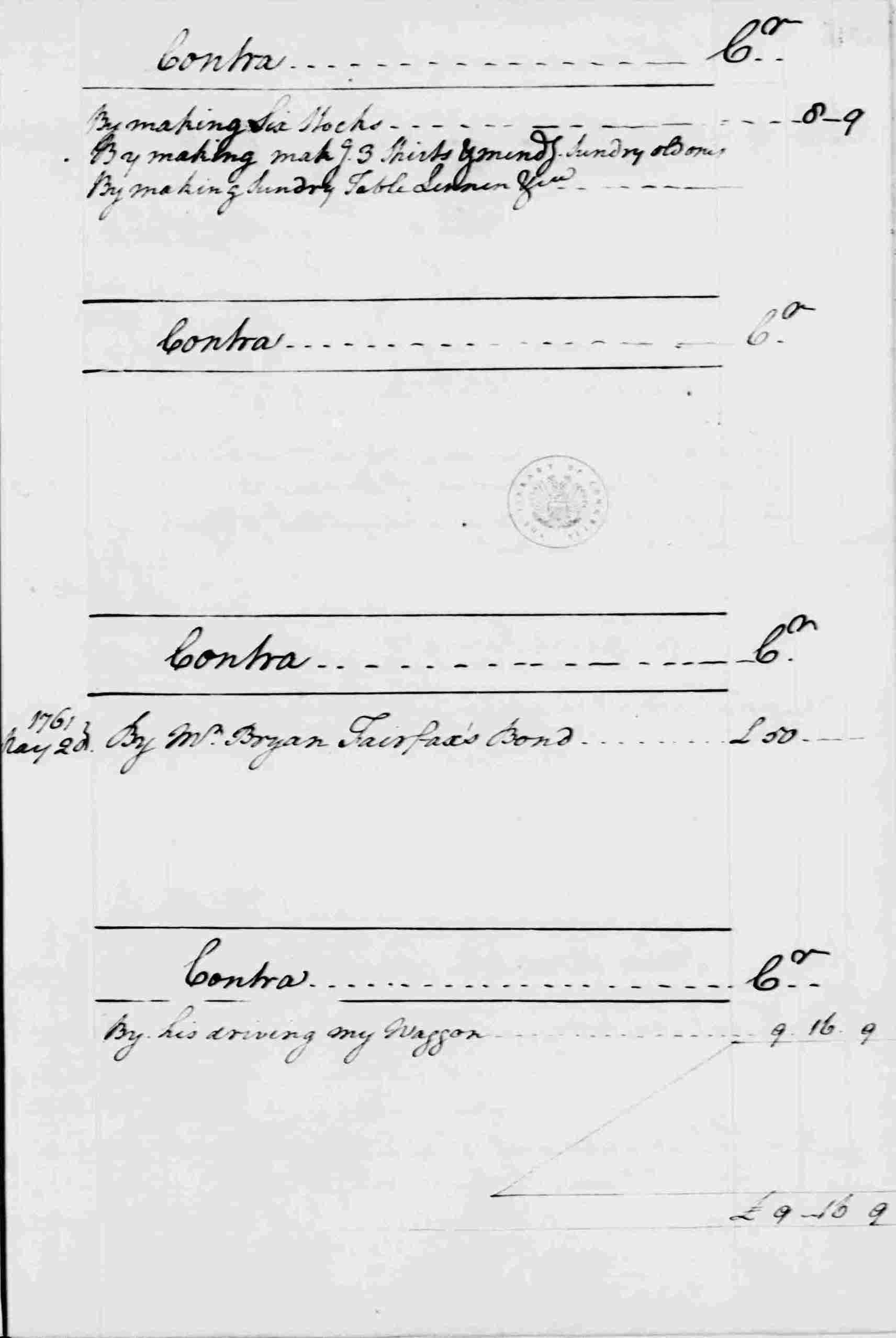 Ledger A, folio 50, right side