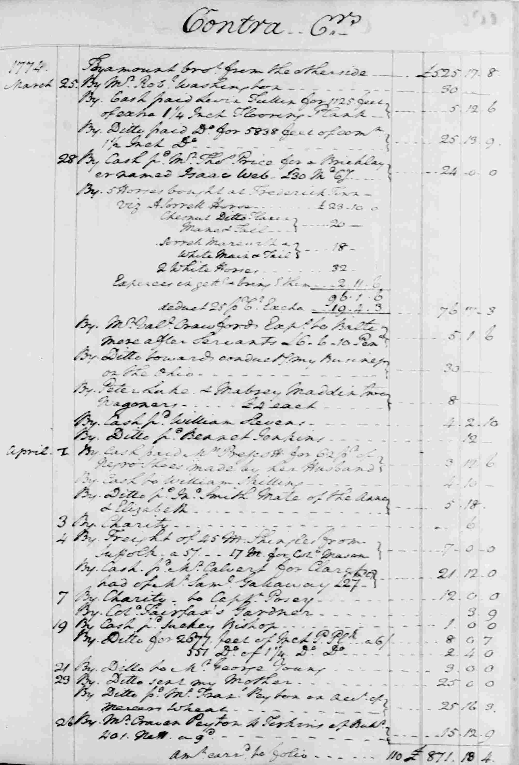 Ledger B, folio 106, right side