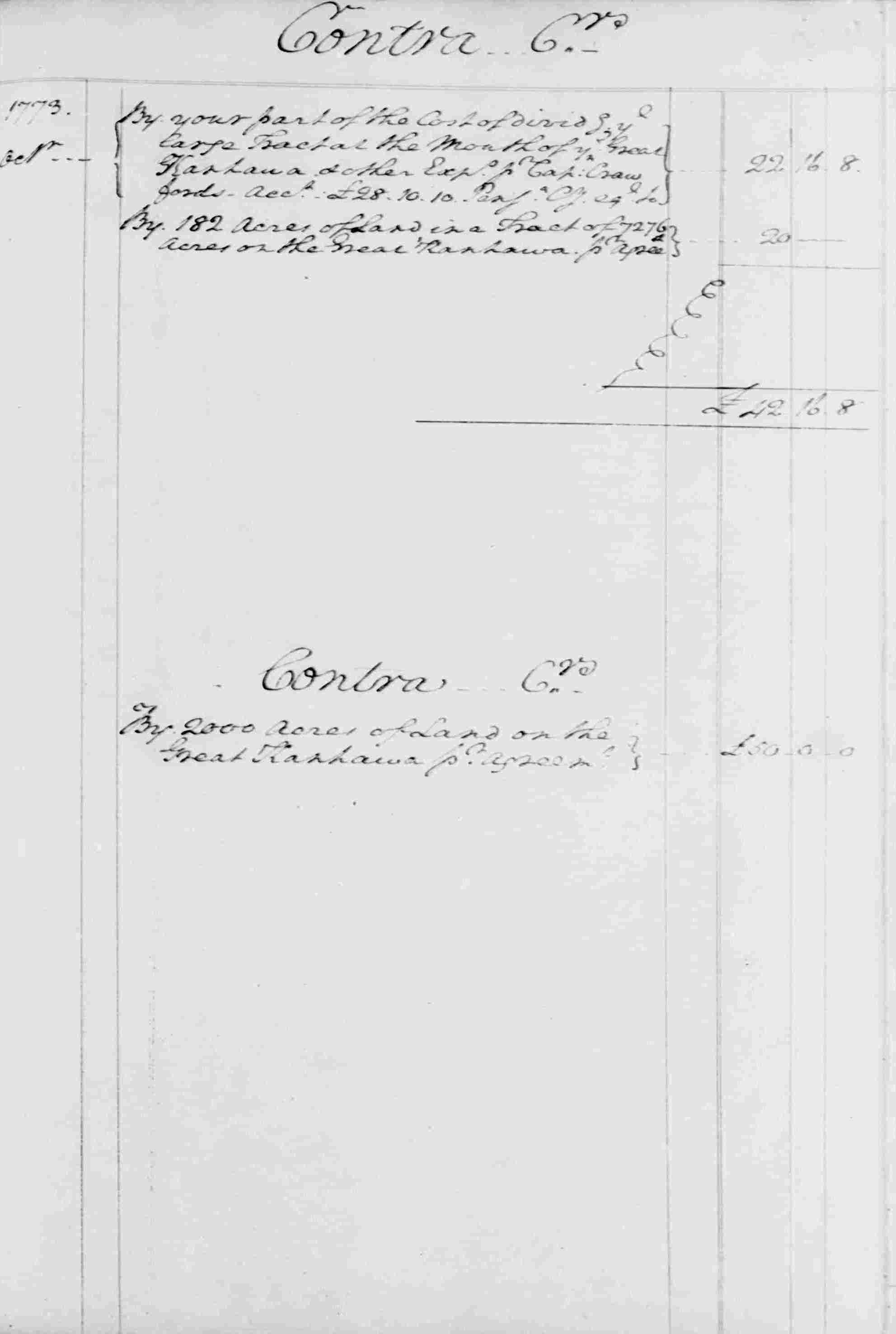Ledger B, folio 114, right side