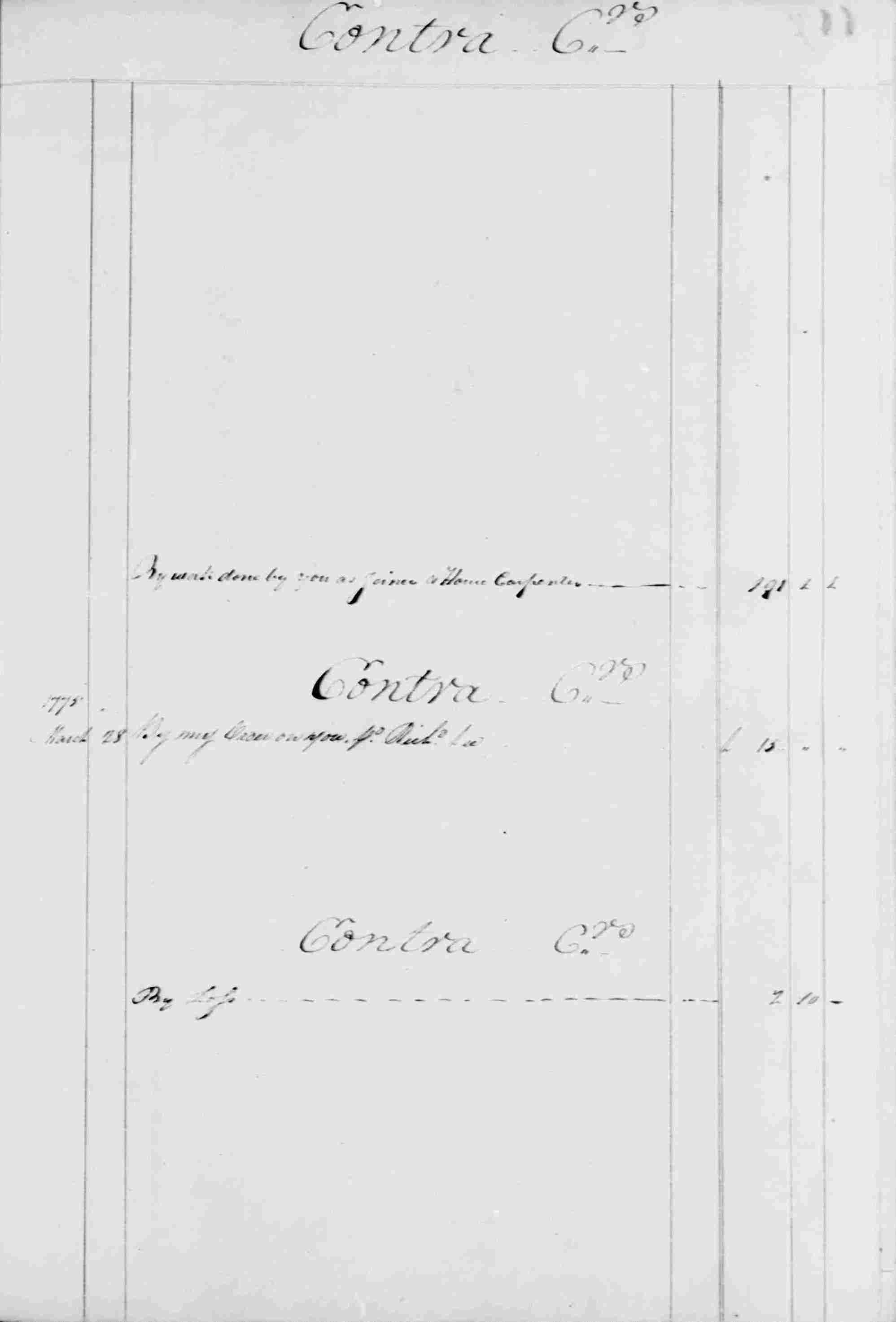 Ledger B, folio 116, right side