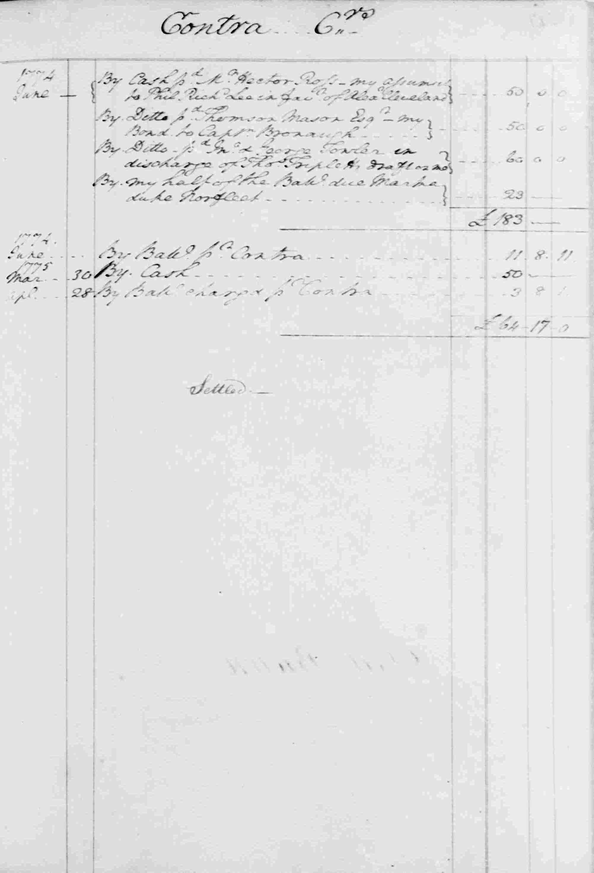 Ledger B, folio 118, right side