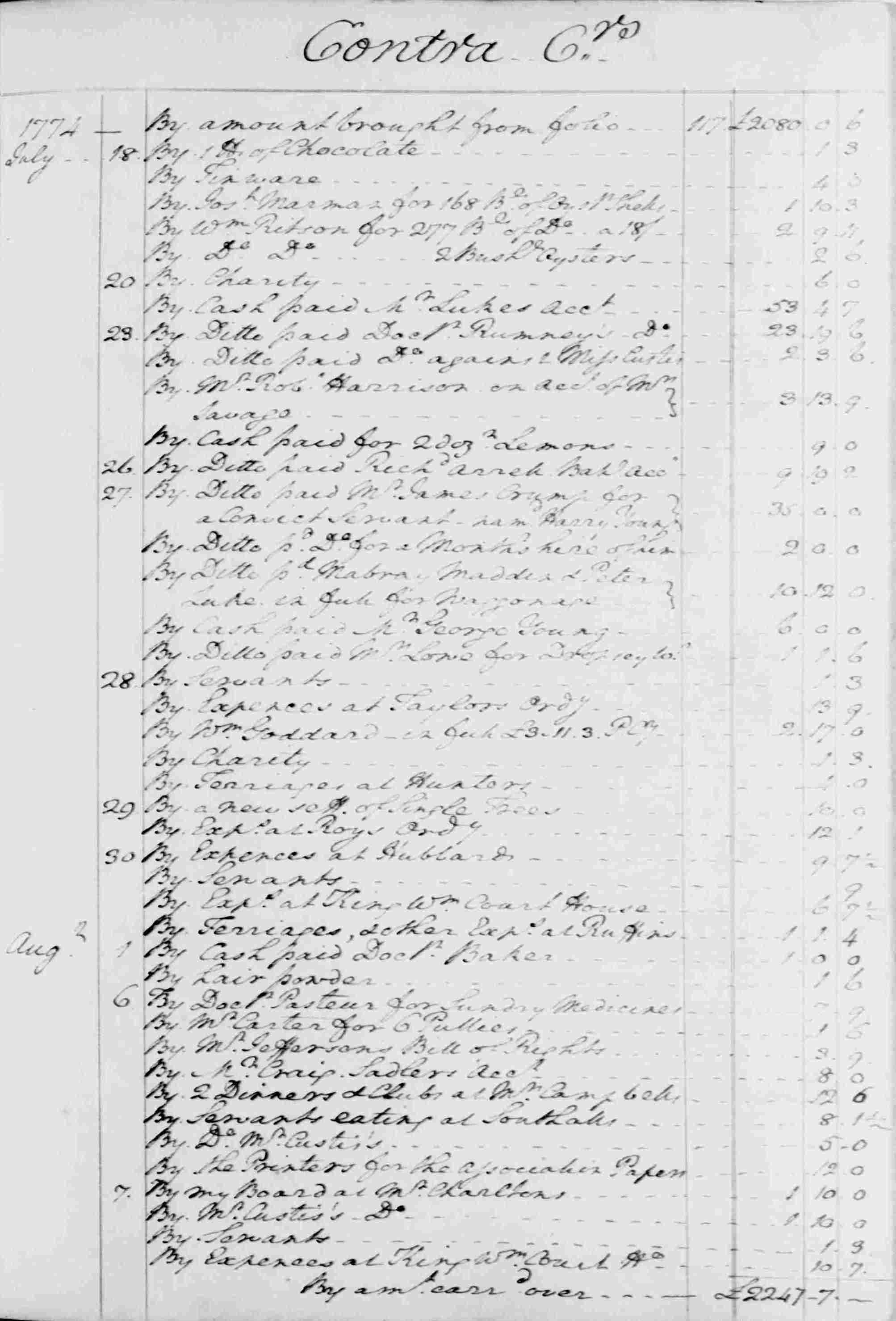 Ledger B, folio 120, right side