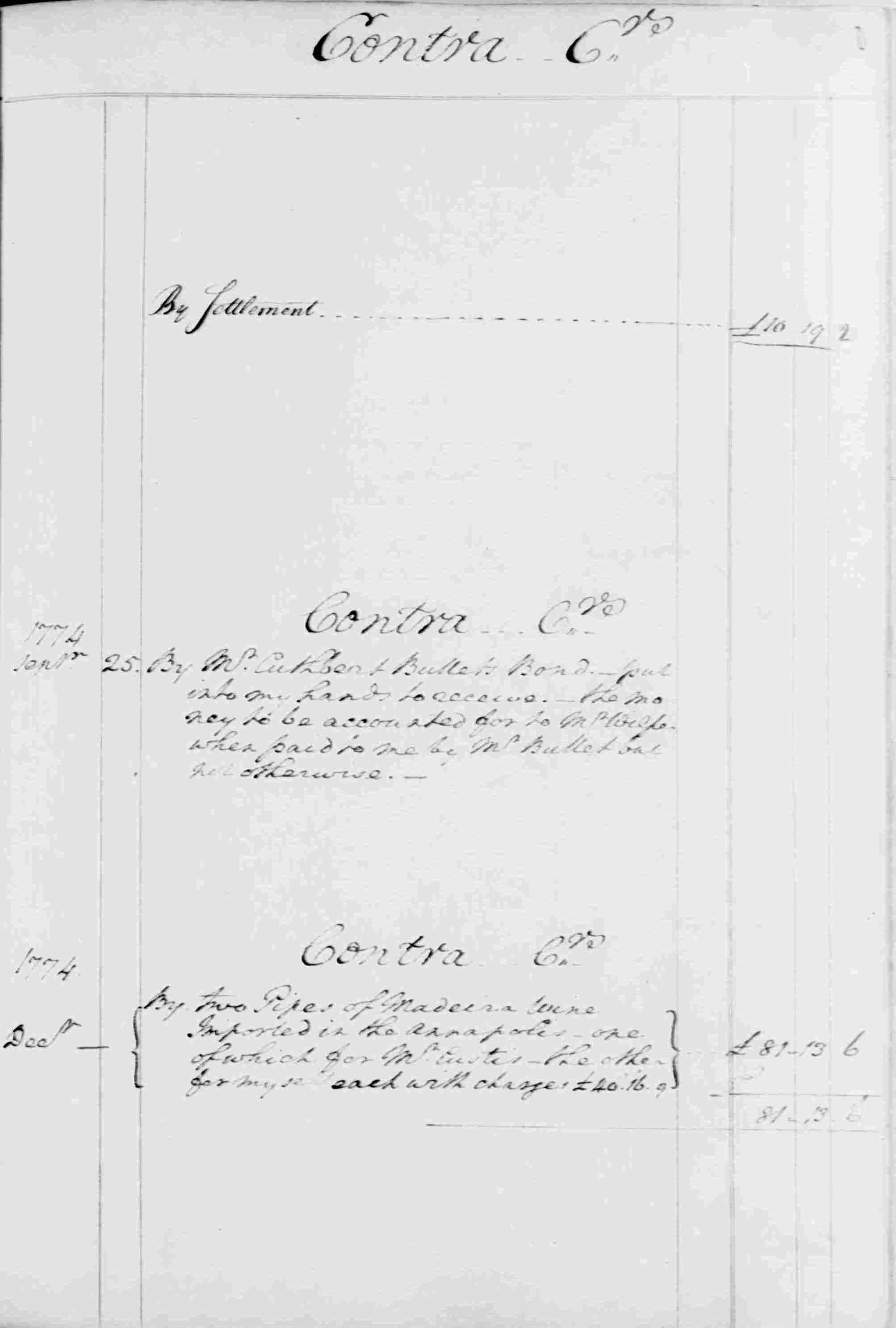 Ledger B, folio 122, right side