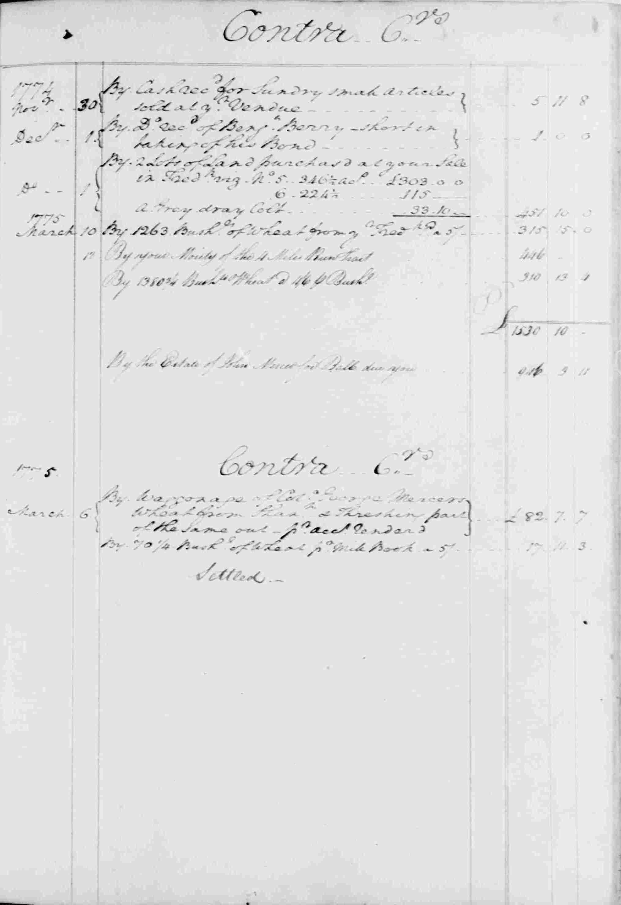Ledger B, folio 129, right side
