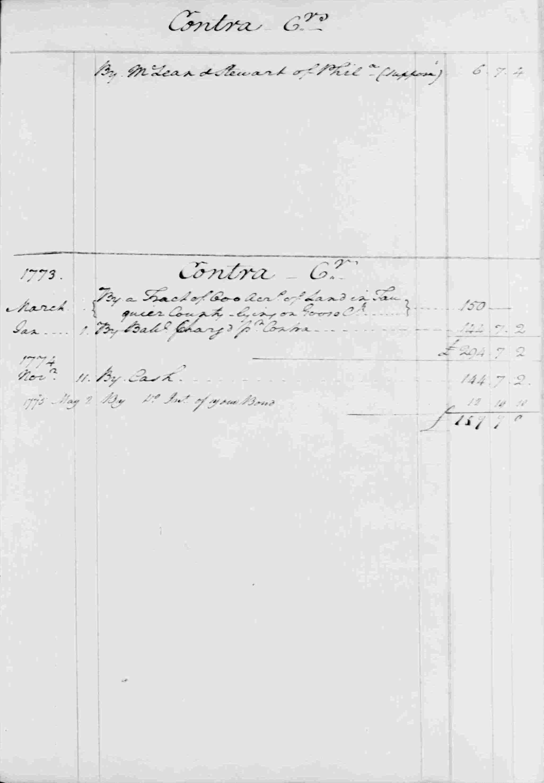 Ledger B, folio 13, right side