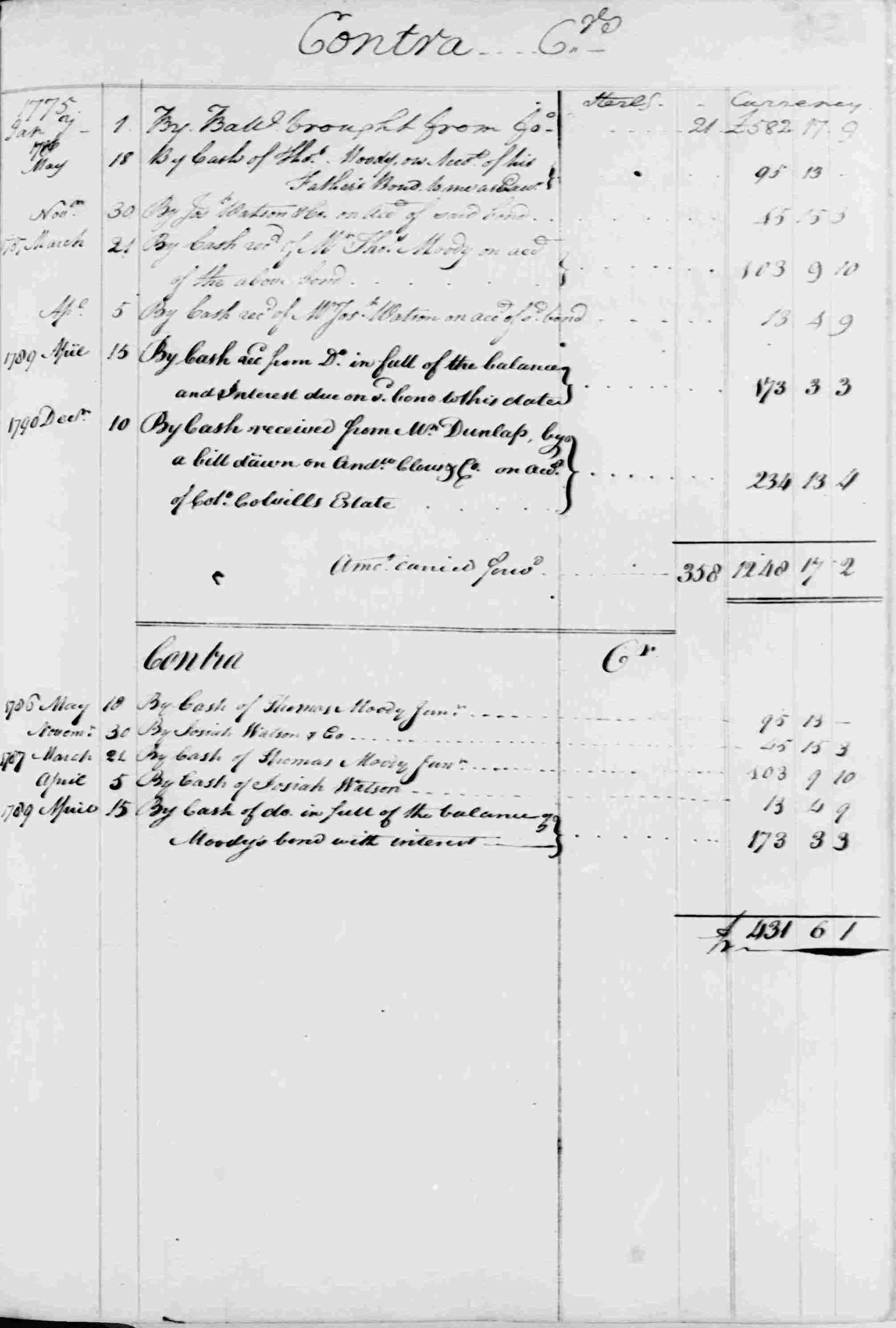 Ledger B, folio 135, right side