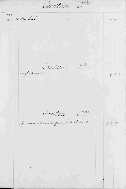 Ledger B, folio 136, right side