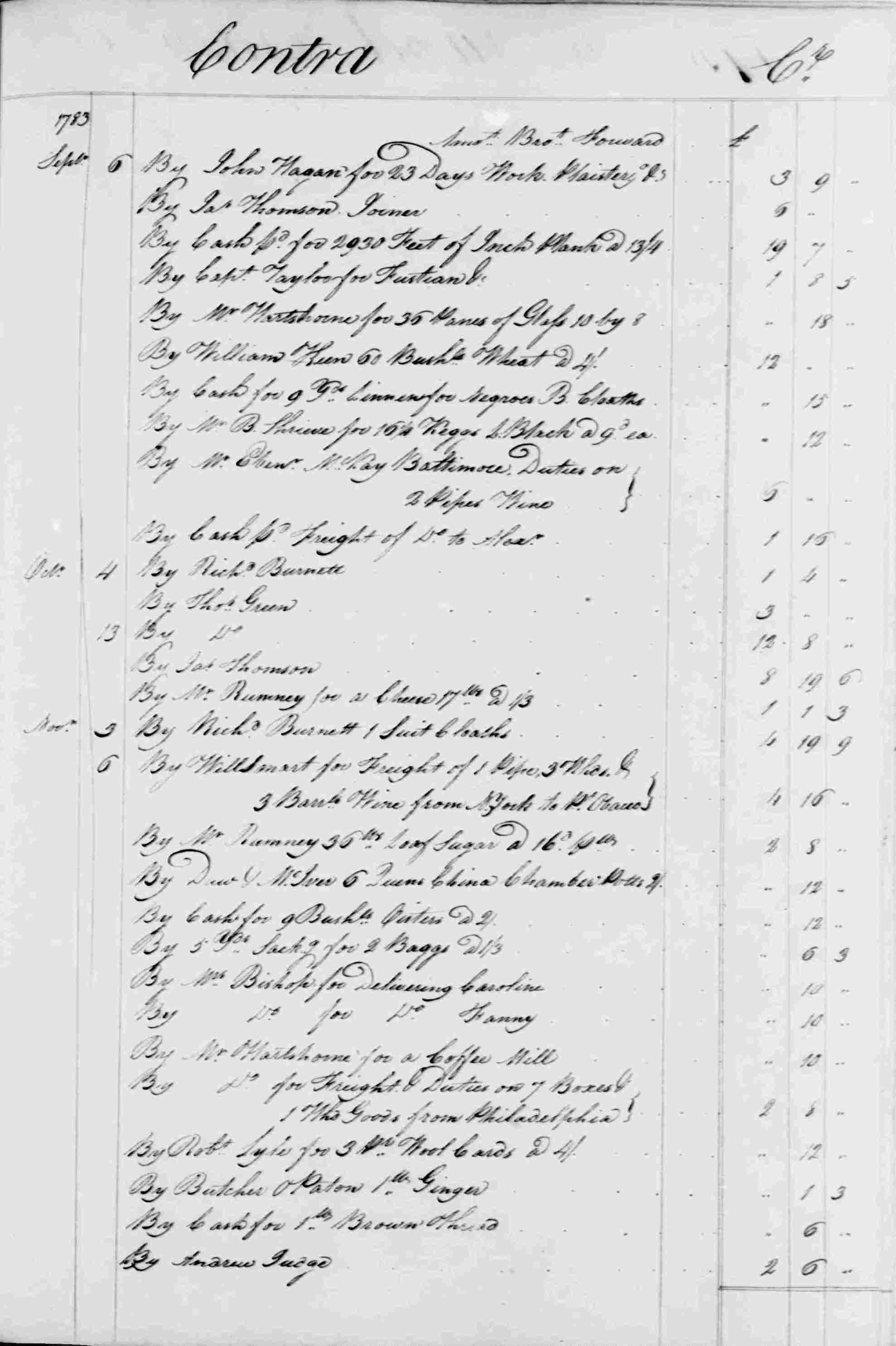 Ledger B, folio 174, right side
