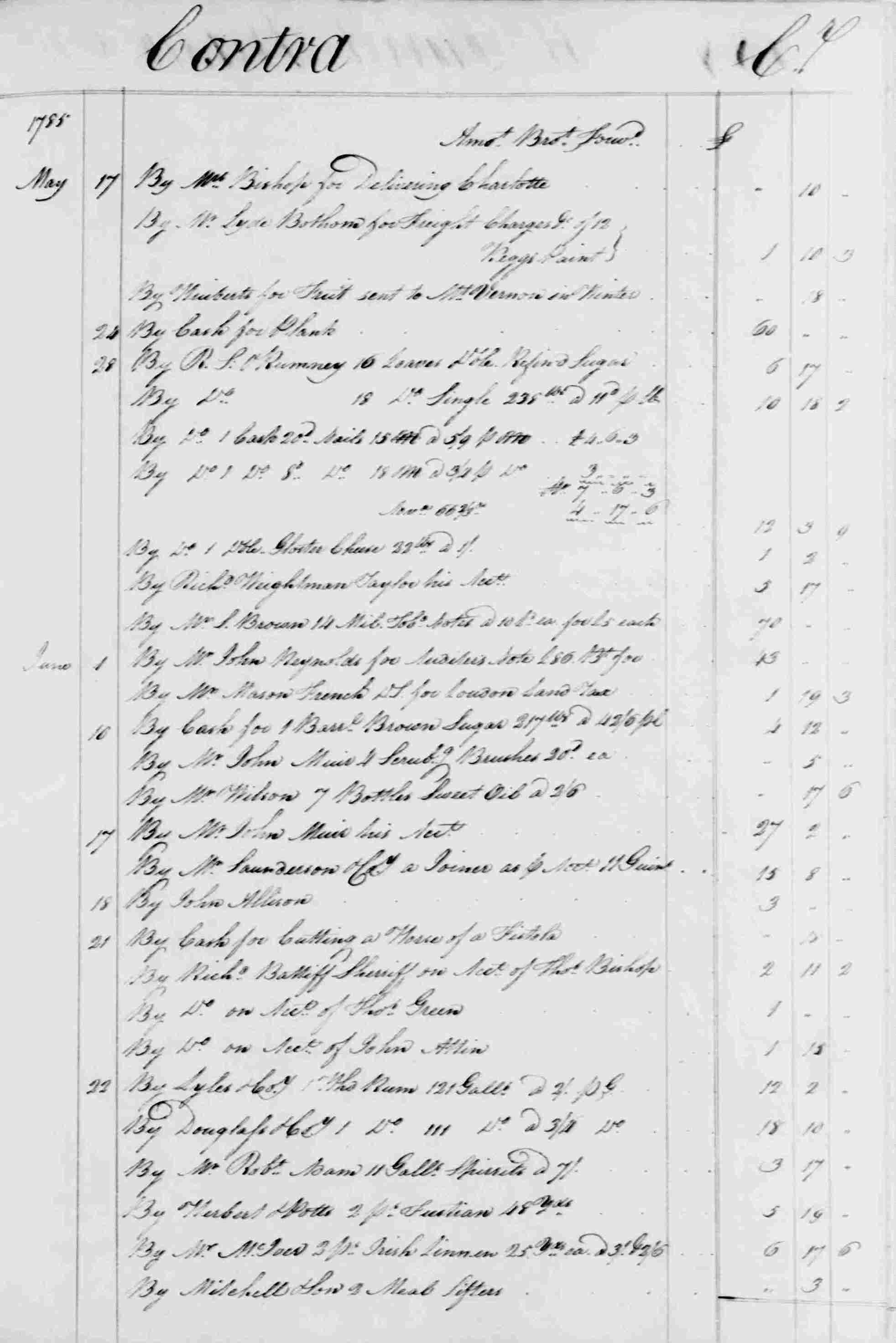 Ledger B, folio 187, right side