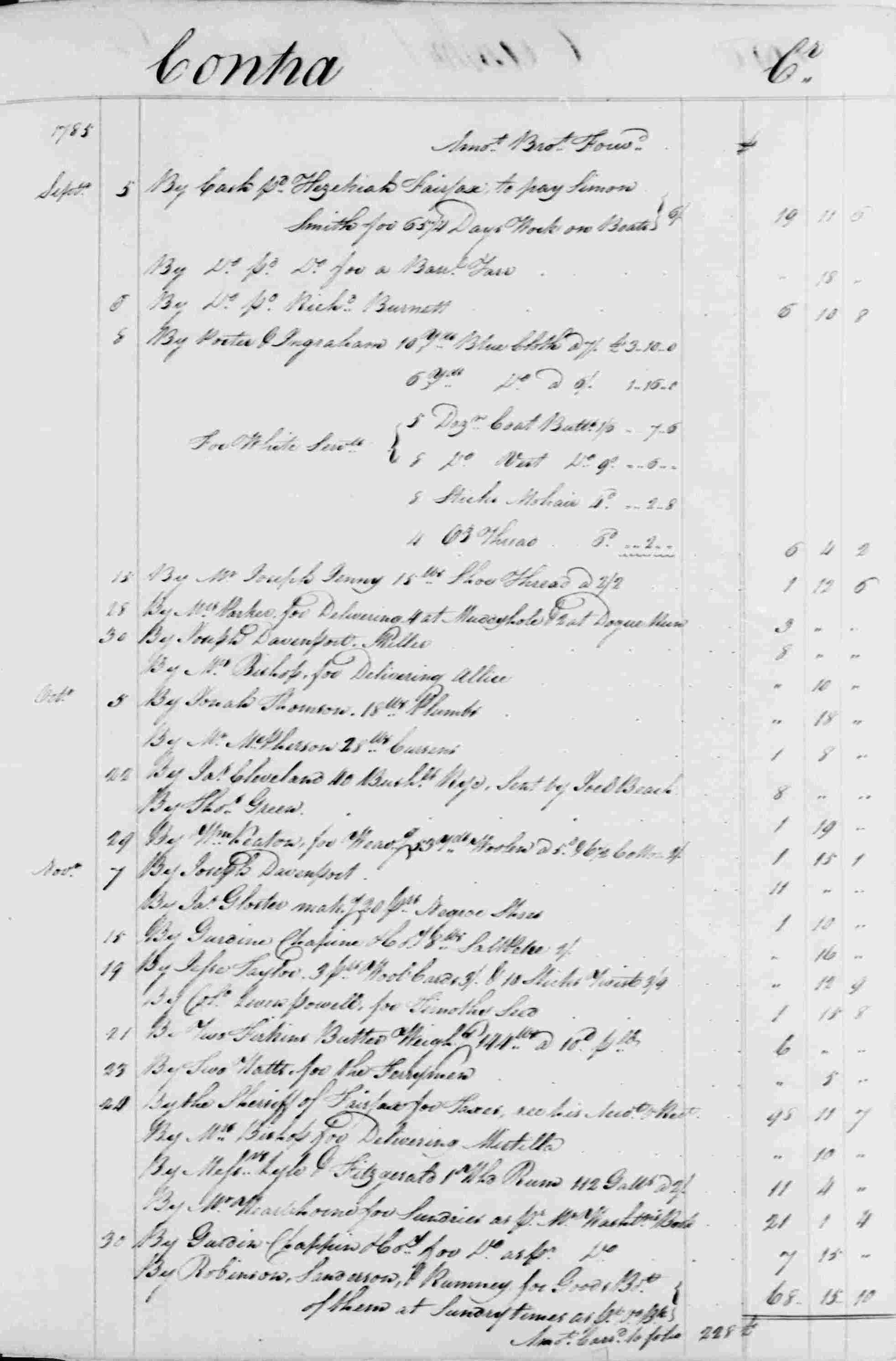 Ledger B, folio 189, right side