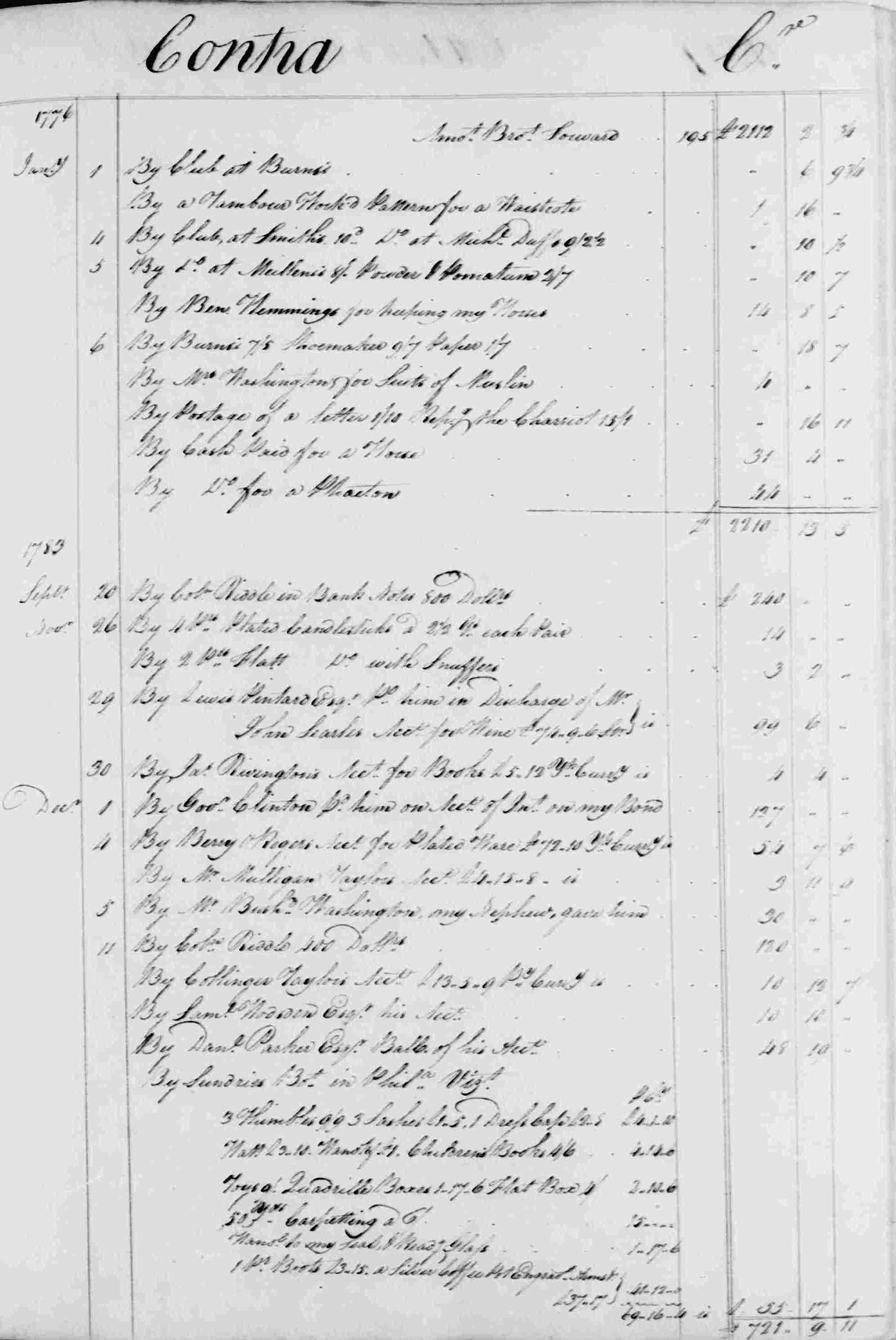Ledger B, folio 196, right side