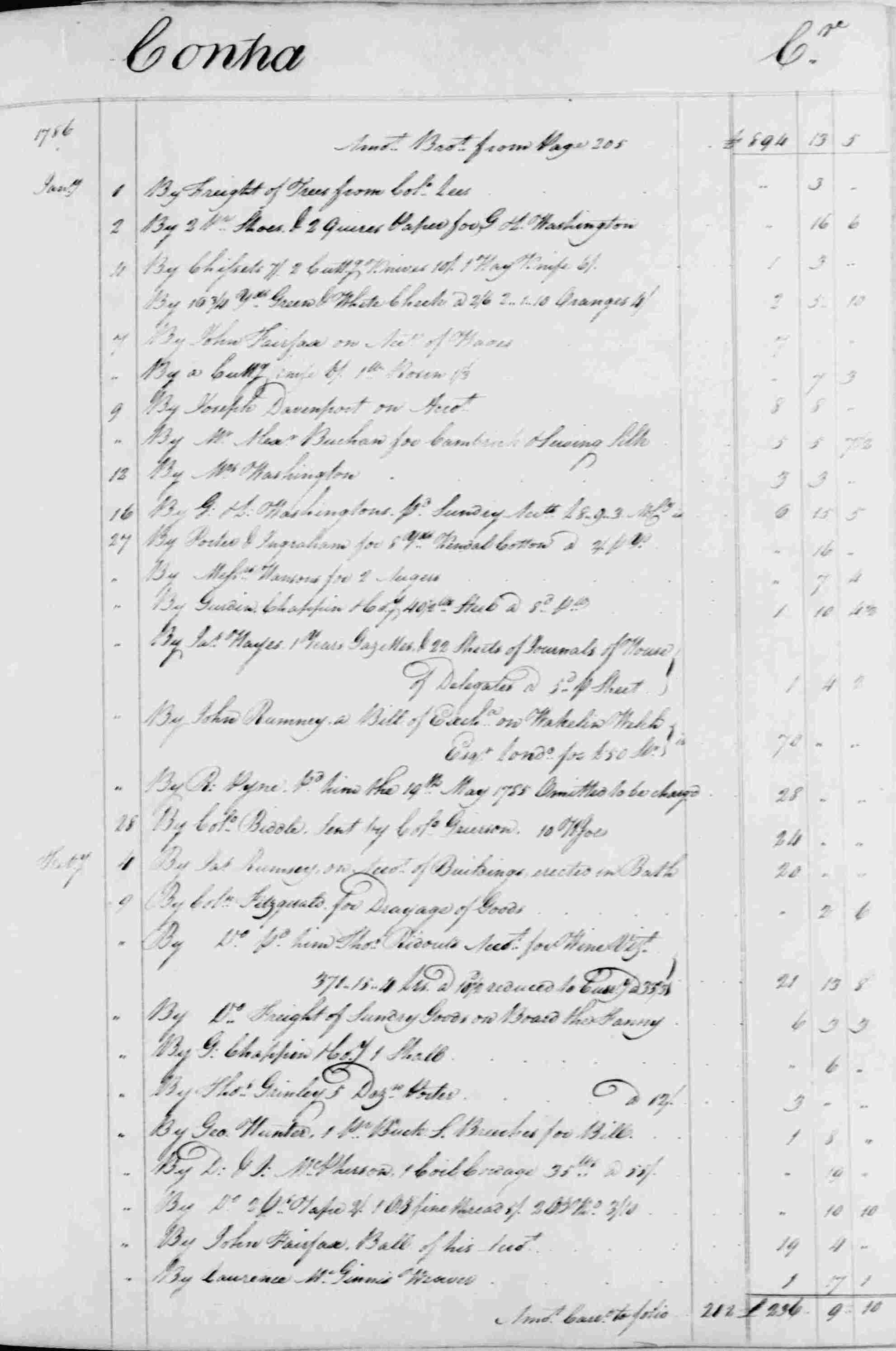 Ledger B, folio 207, right side