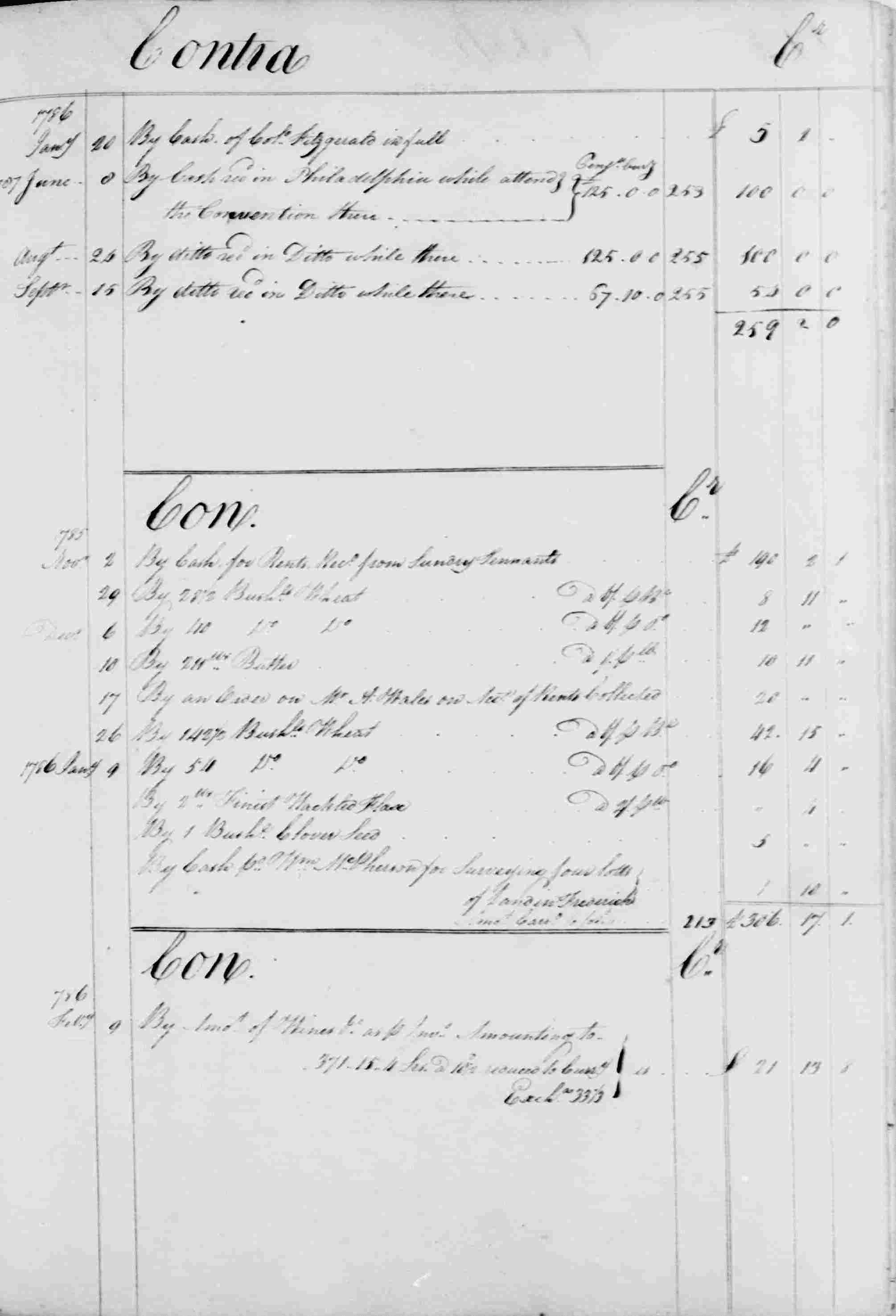 Ledger B, folio 211, right side