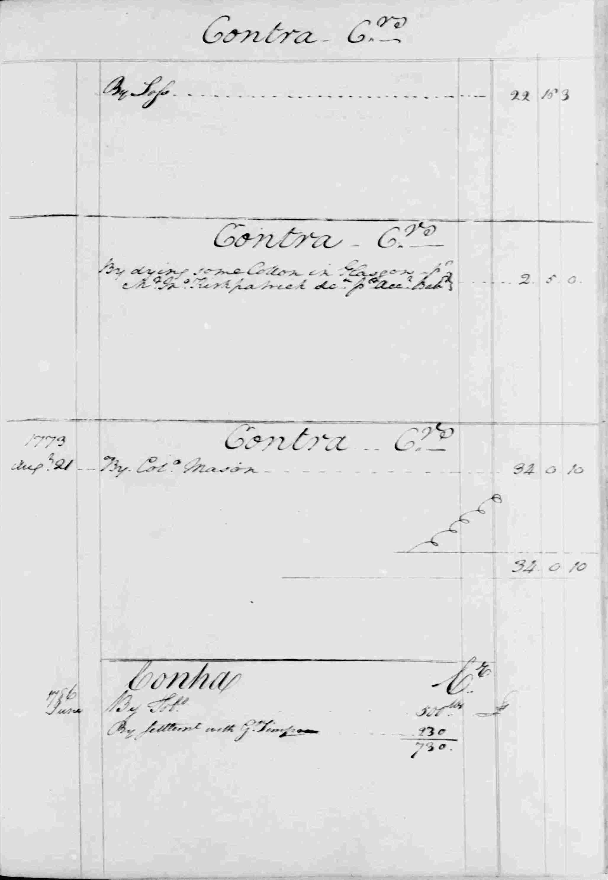 Ledger B, folio 25, right side
