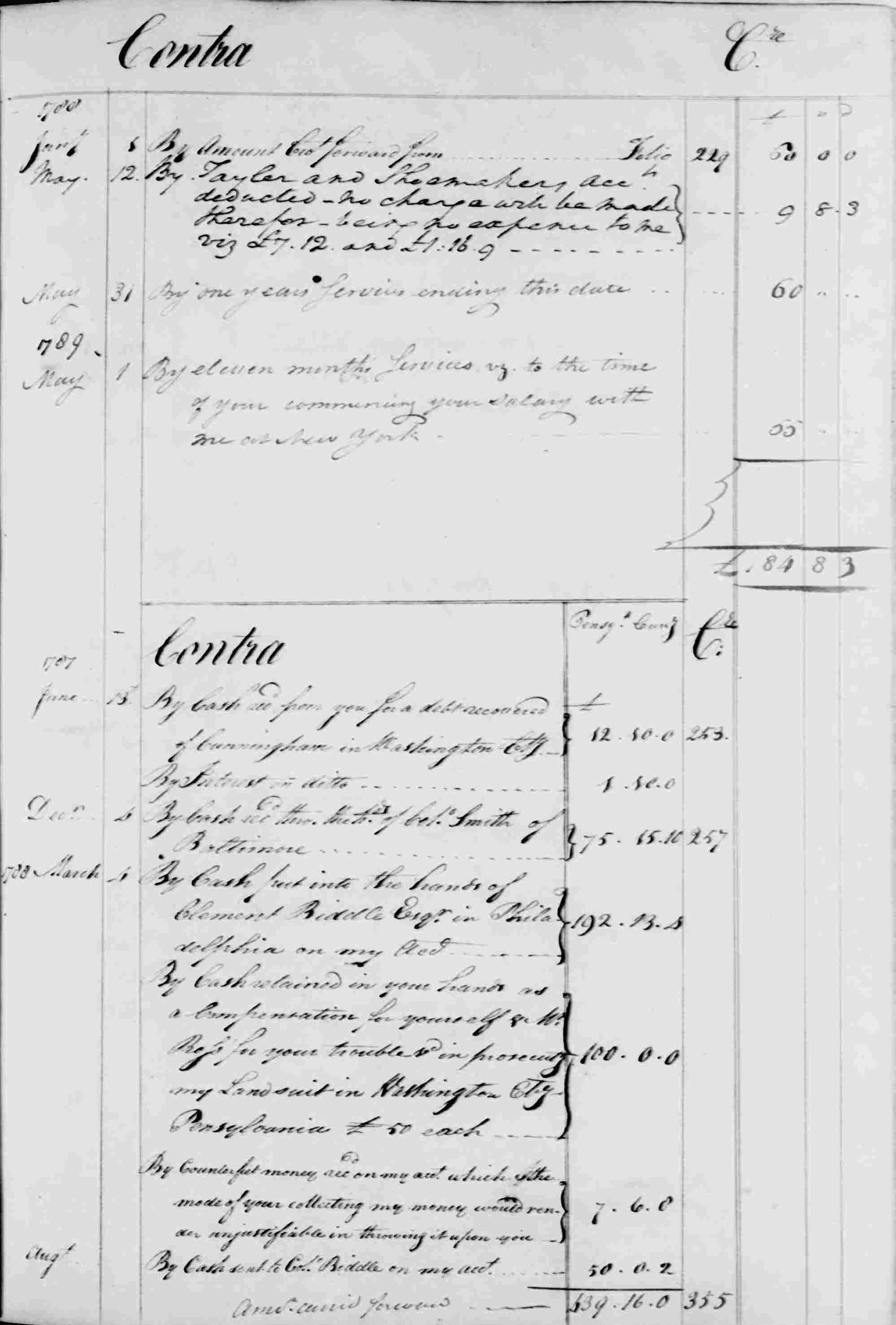 Ledger B, folio 259, right side