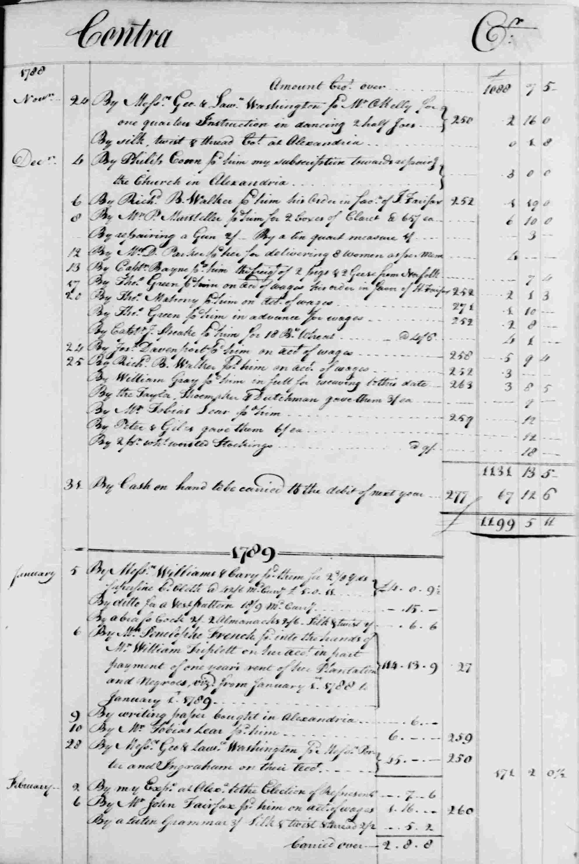 Ledger B, folio 276, right side