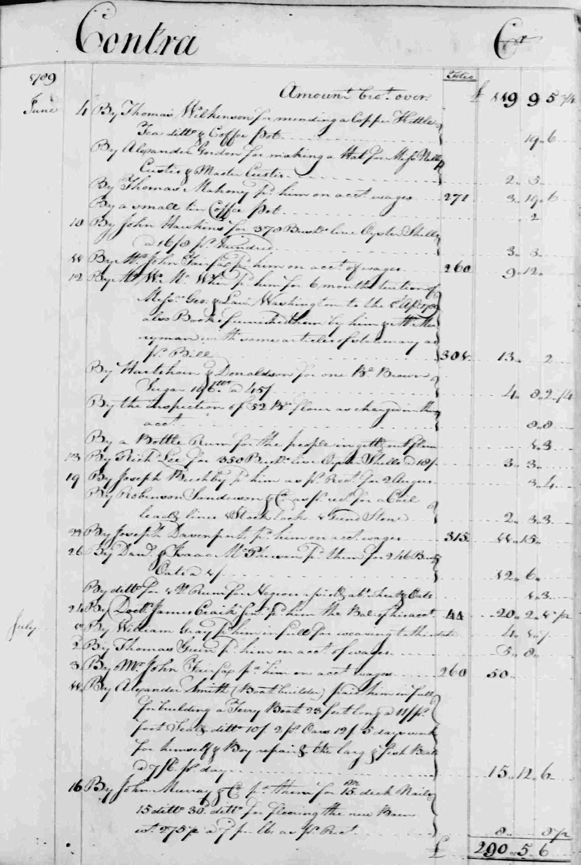 Ledger B, folio 305, right side