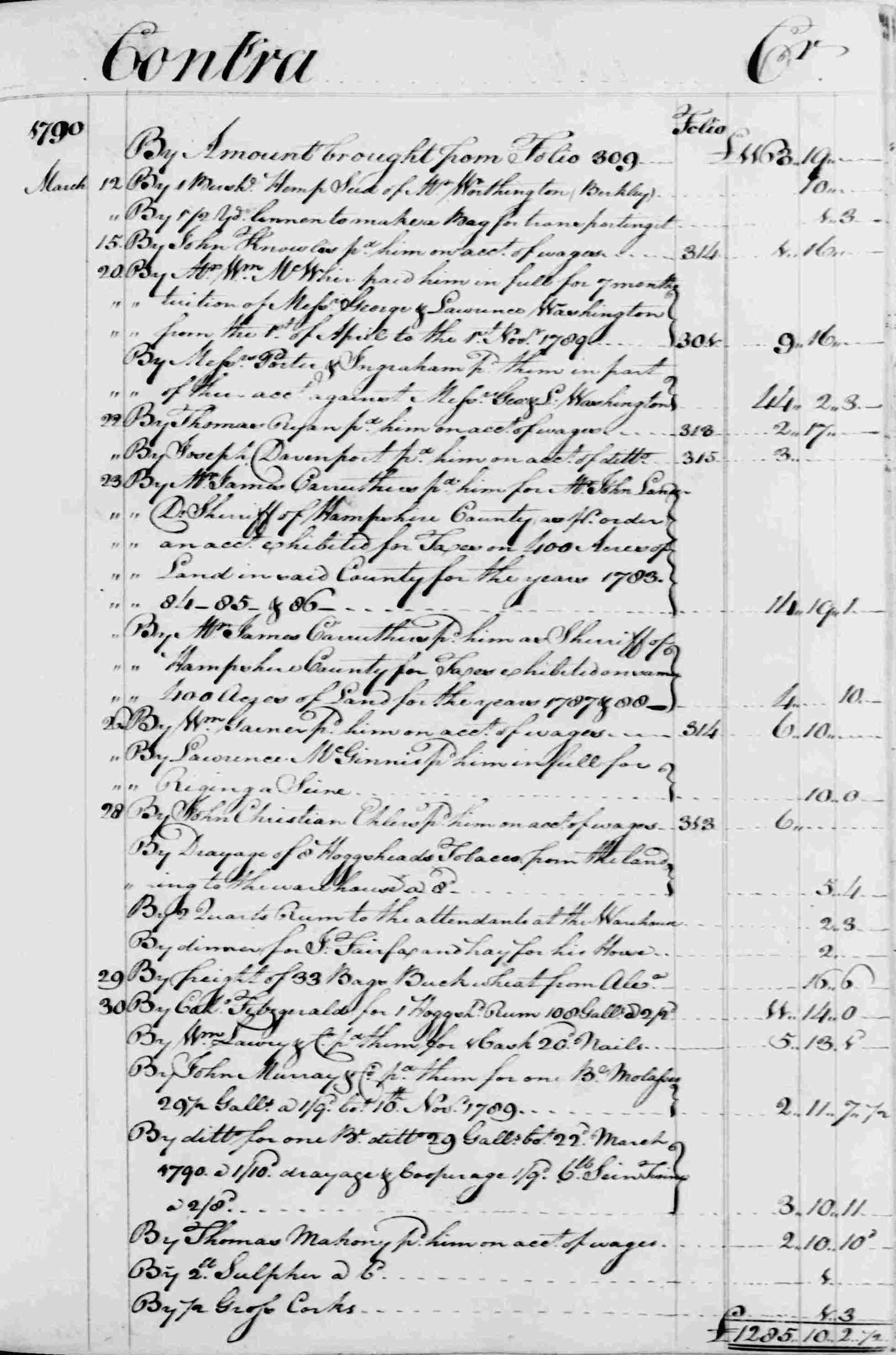 Ledger B, folio 311, right side