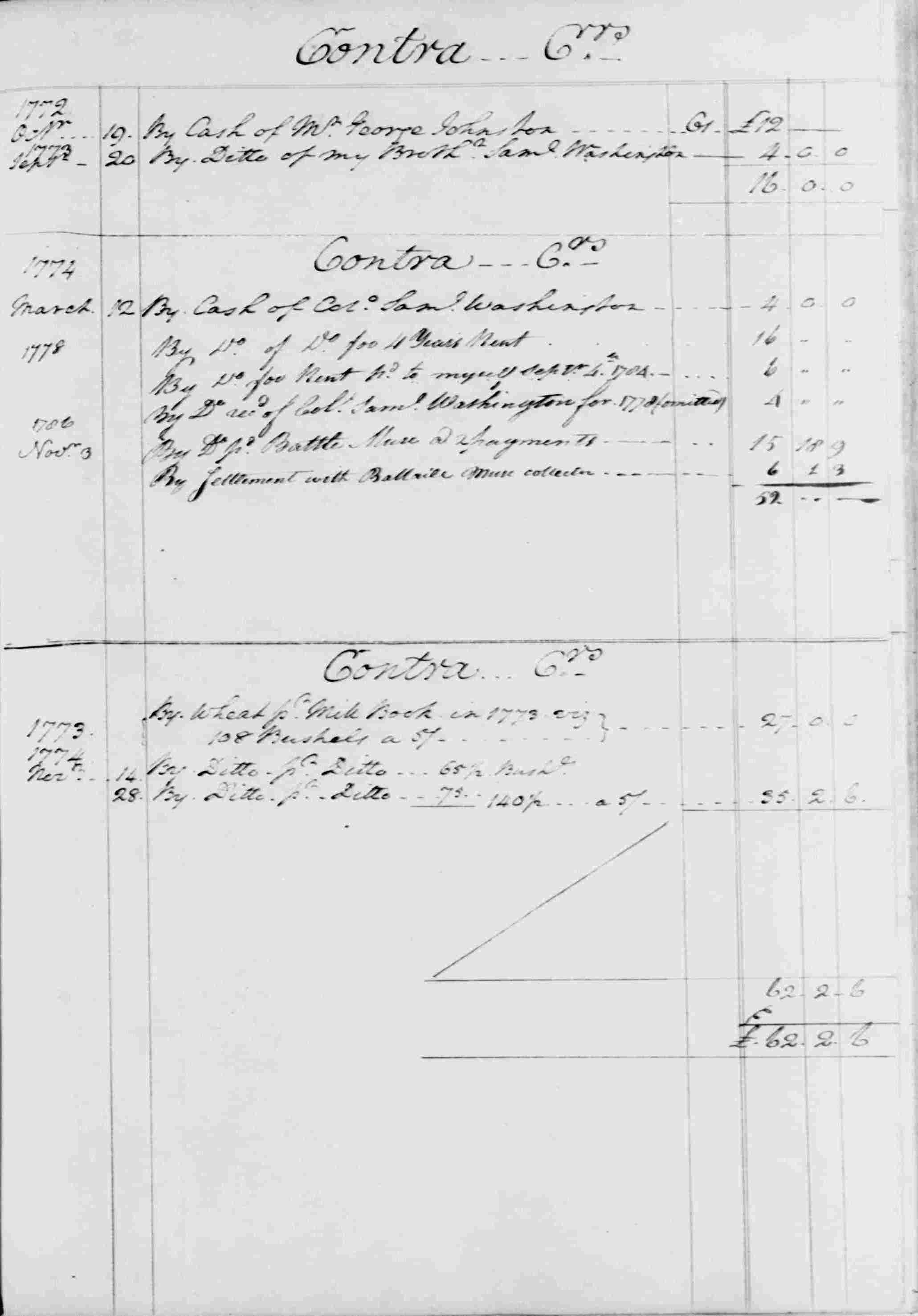 Ledger B, folio 32, right side