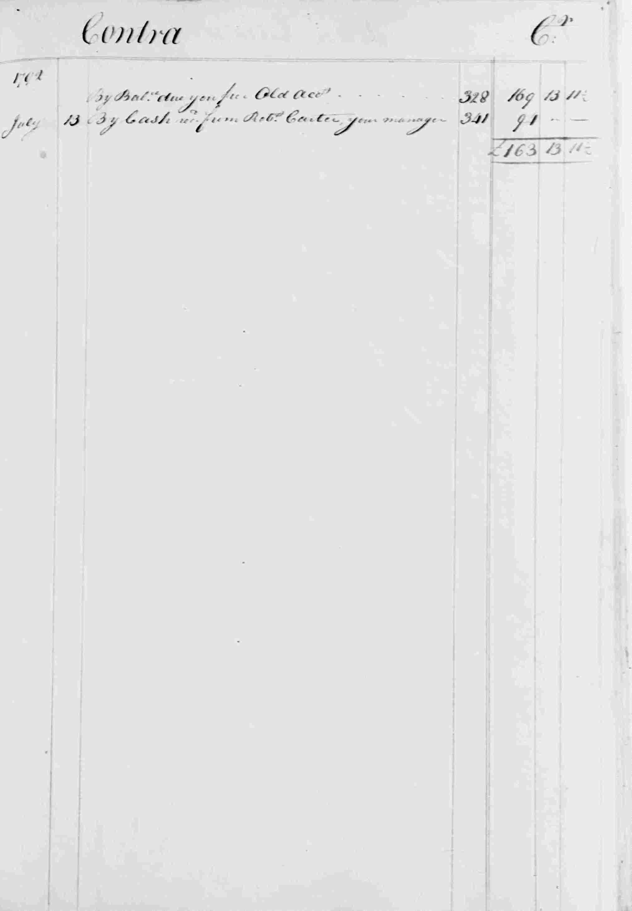 Ledger B, folio 362, right side