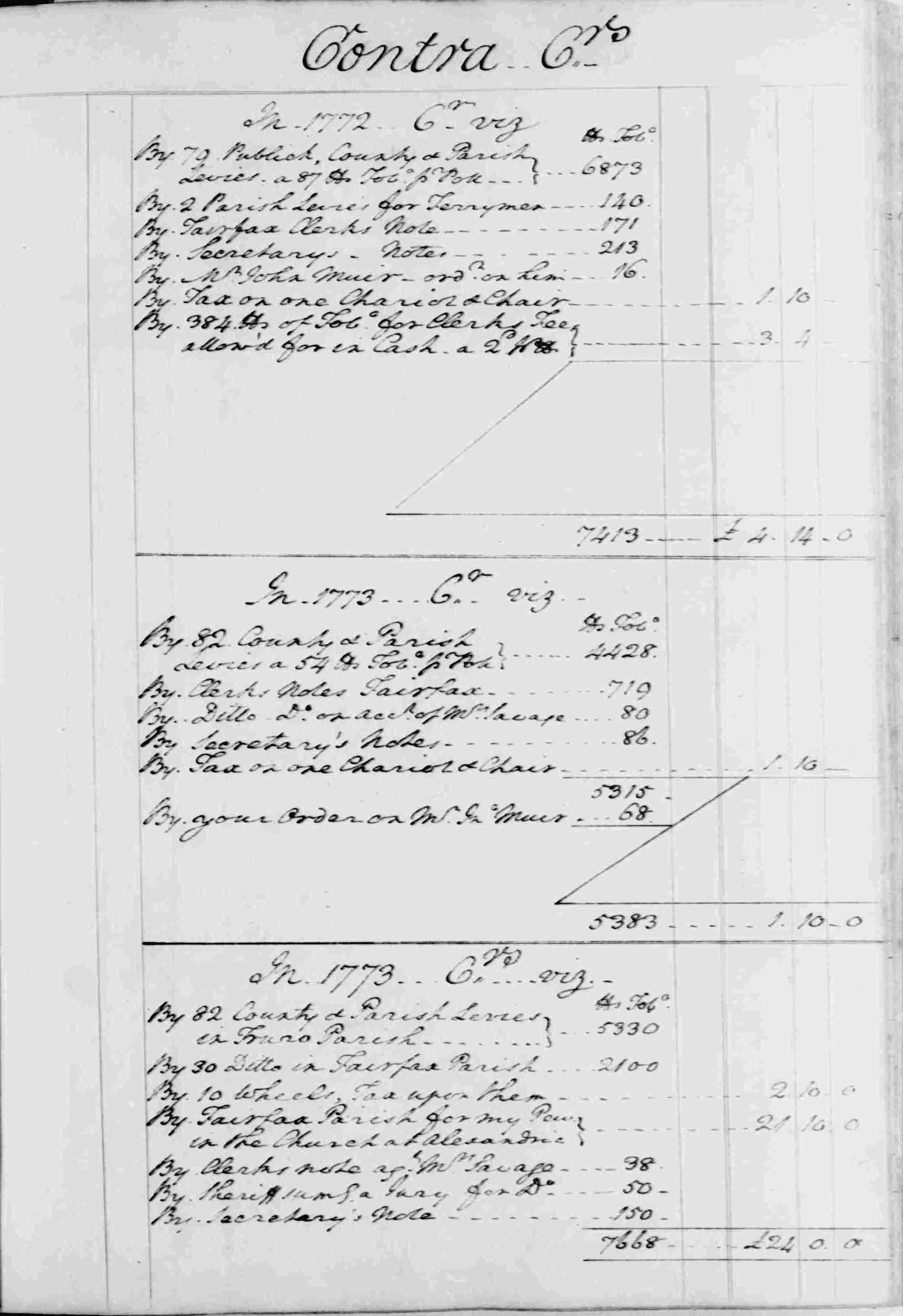 Ledger B, folio 54, right side