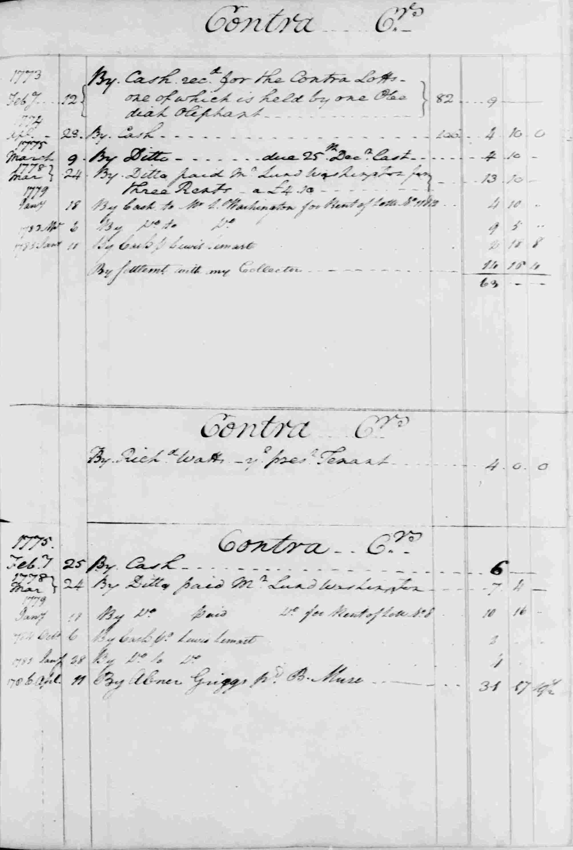 Ledger B, folio 67, right side