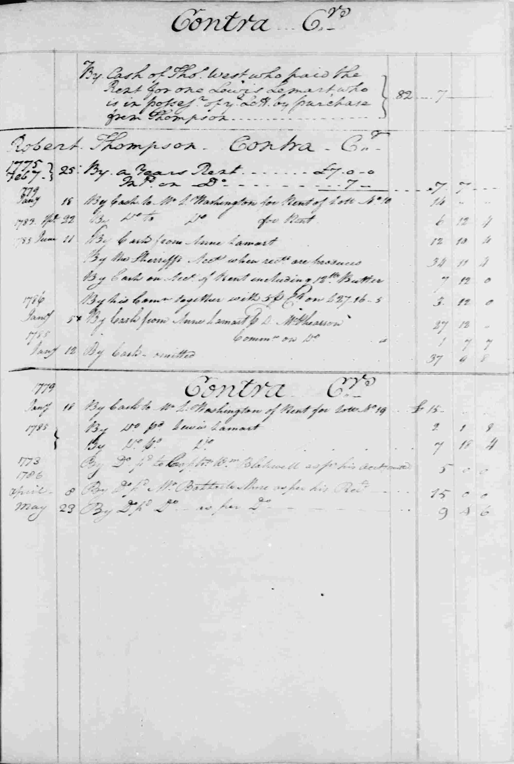 Ledger B, folio 68, right side