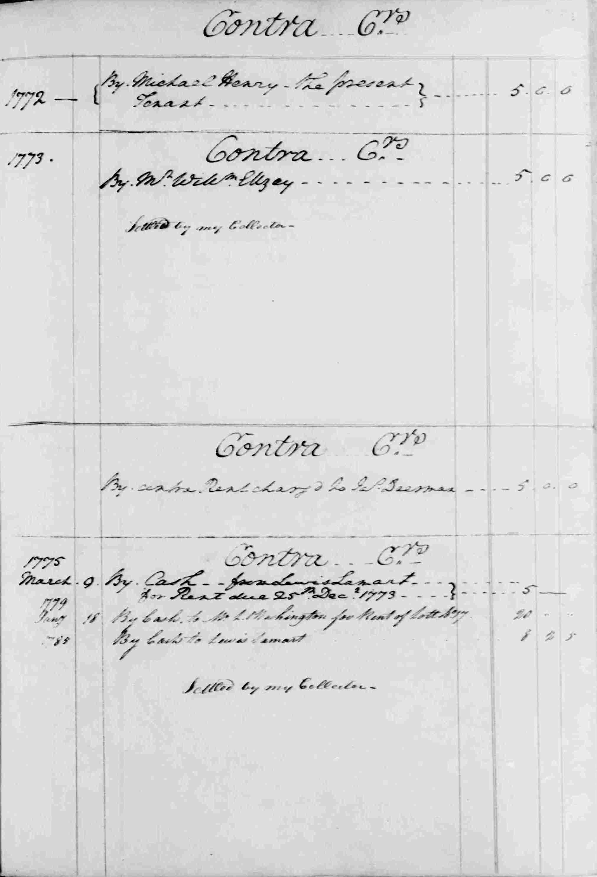 Ledger B, folio 69, right side