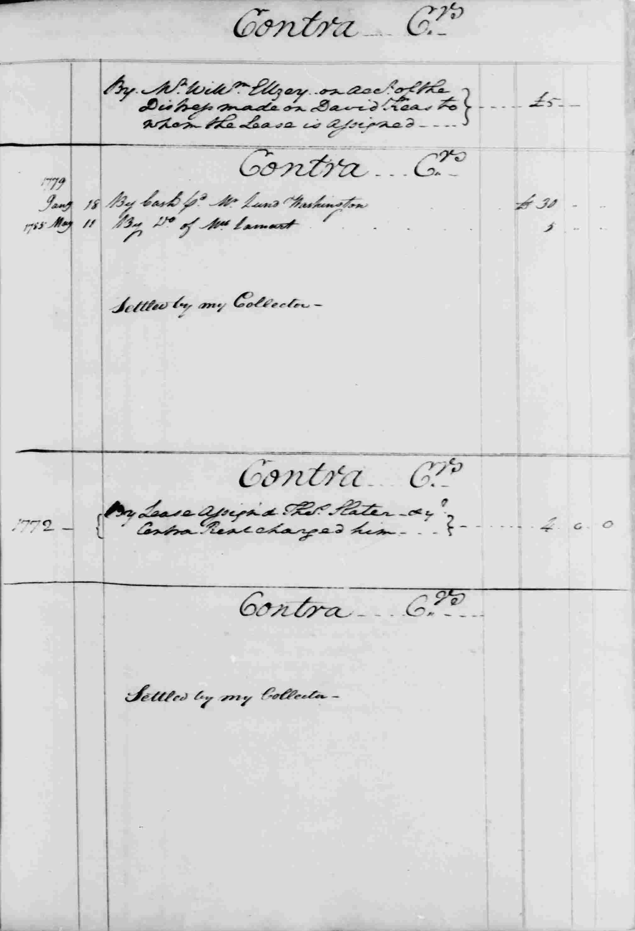 Ledger B, folio 70, right side