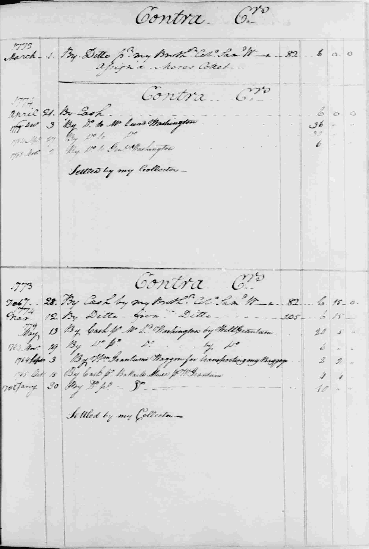 Ledger B, folio 72, right side