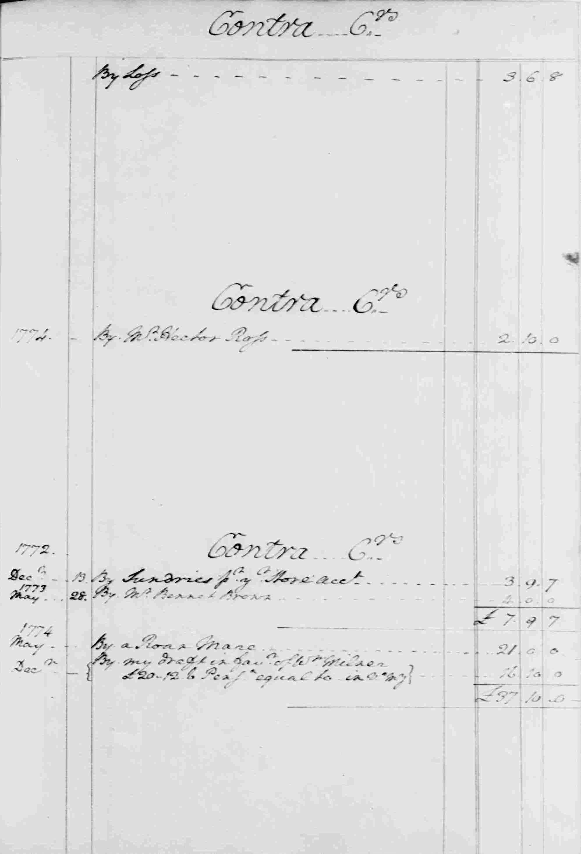 Ledger B, folio 79, right side