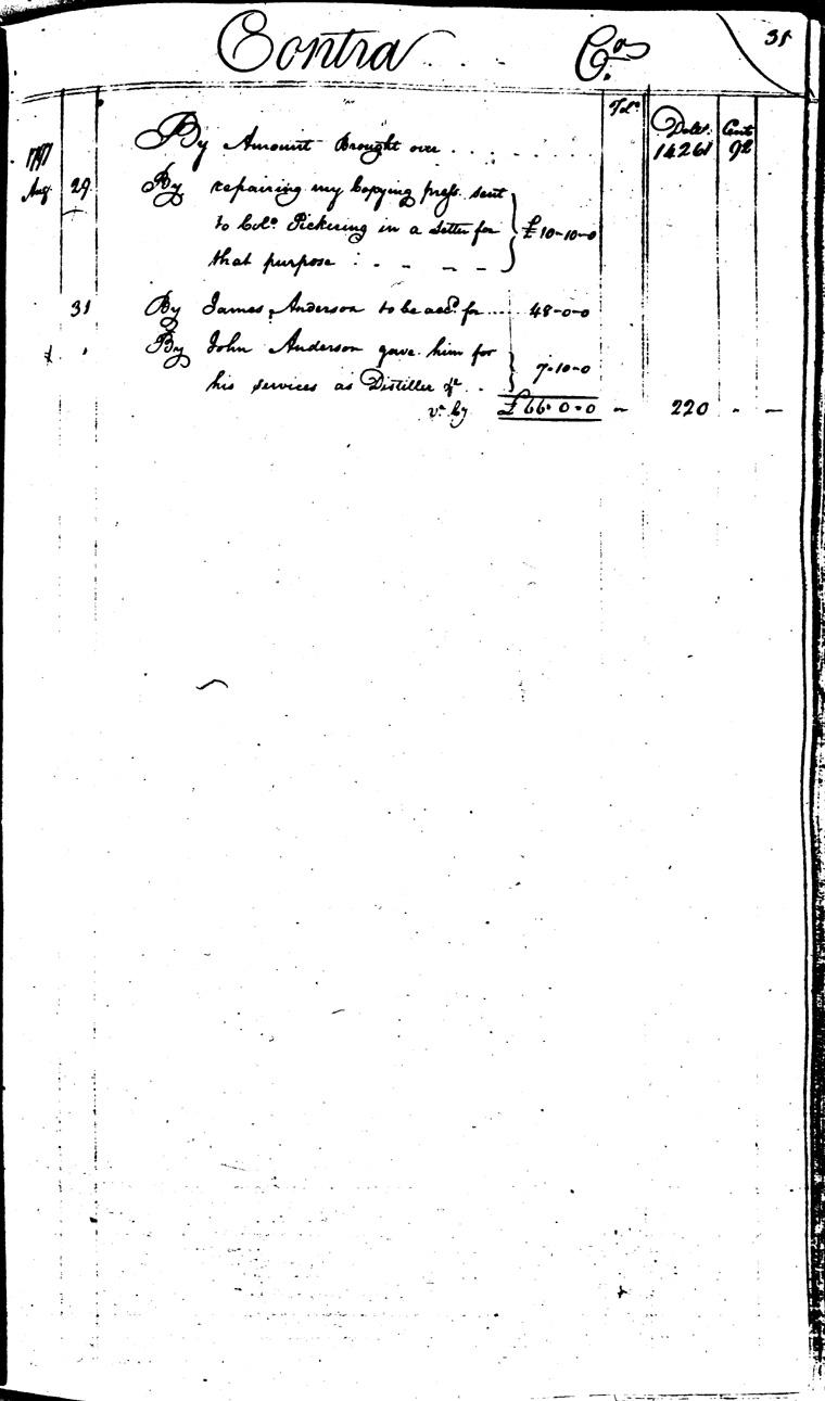 Ledger C, folio 31, right side