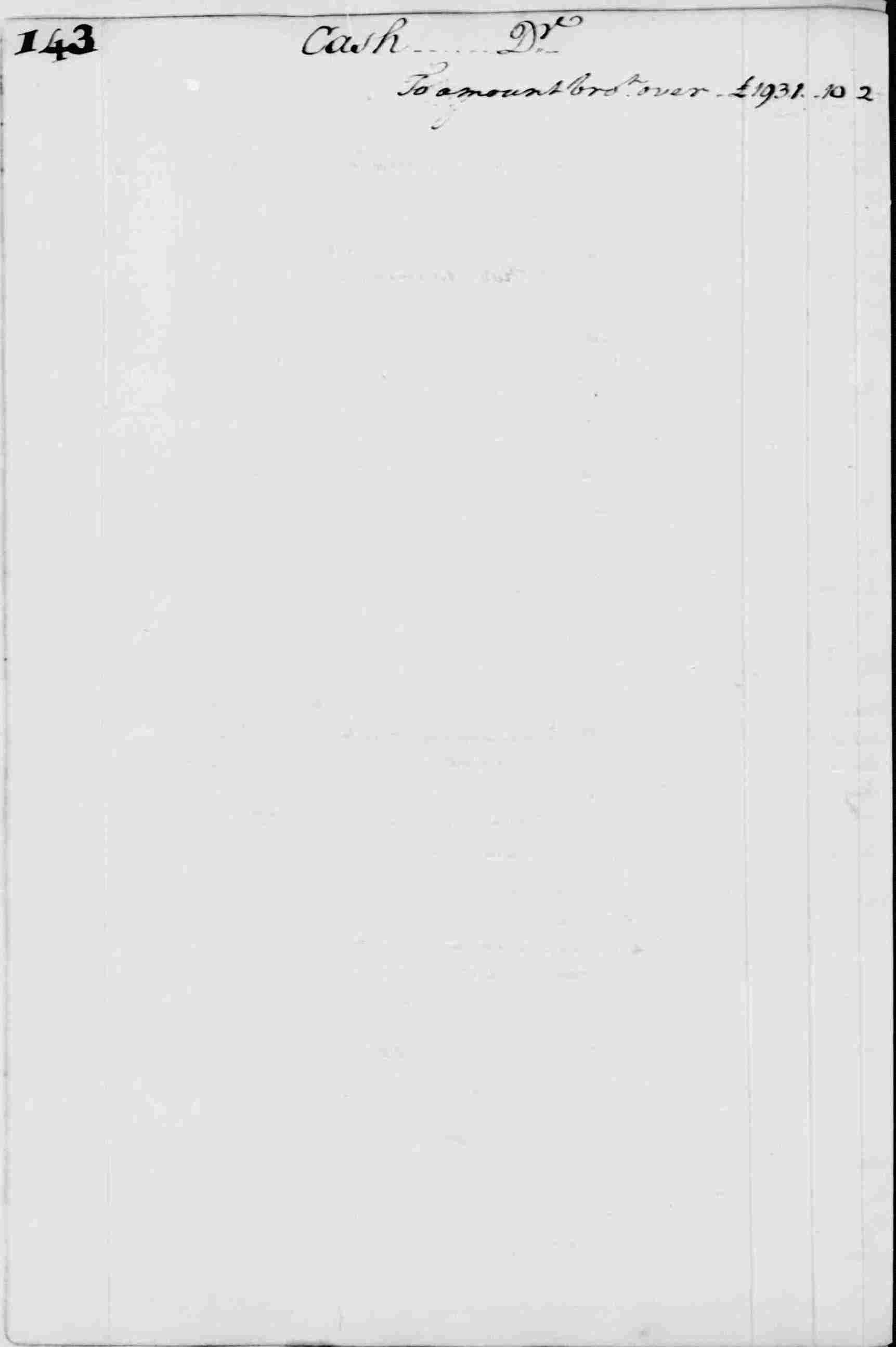 Ledger A, folio 143, left side