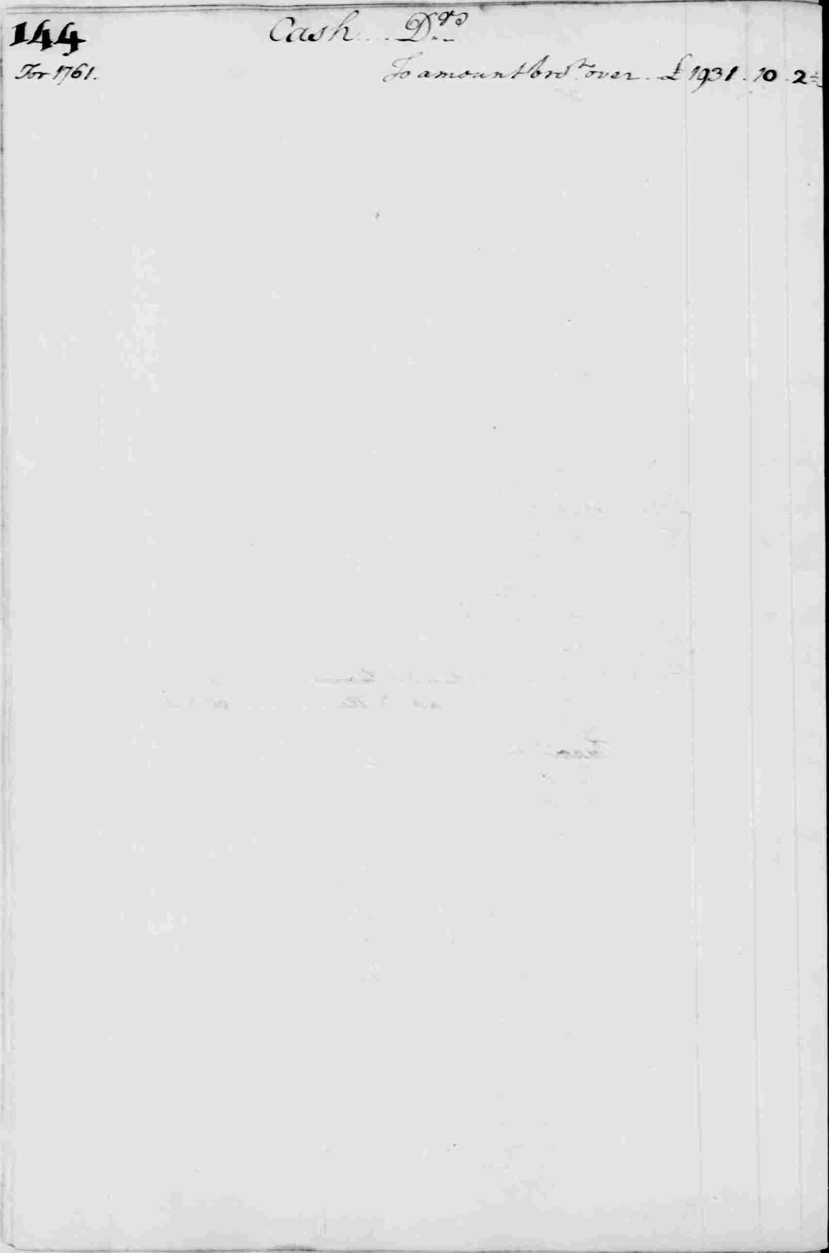 Ledger A, folio 144, left side