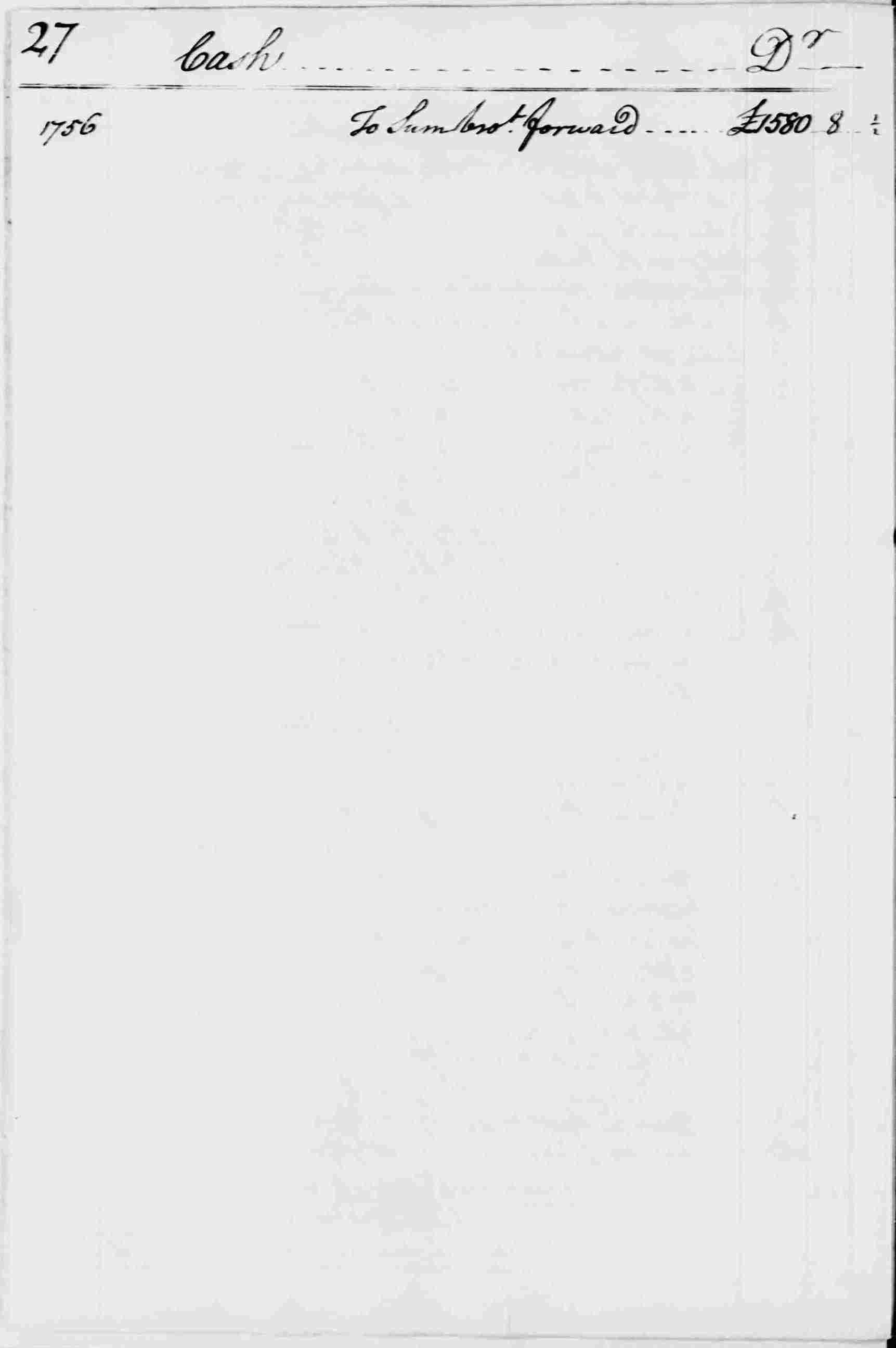Ledger A, folio 27, left side